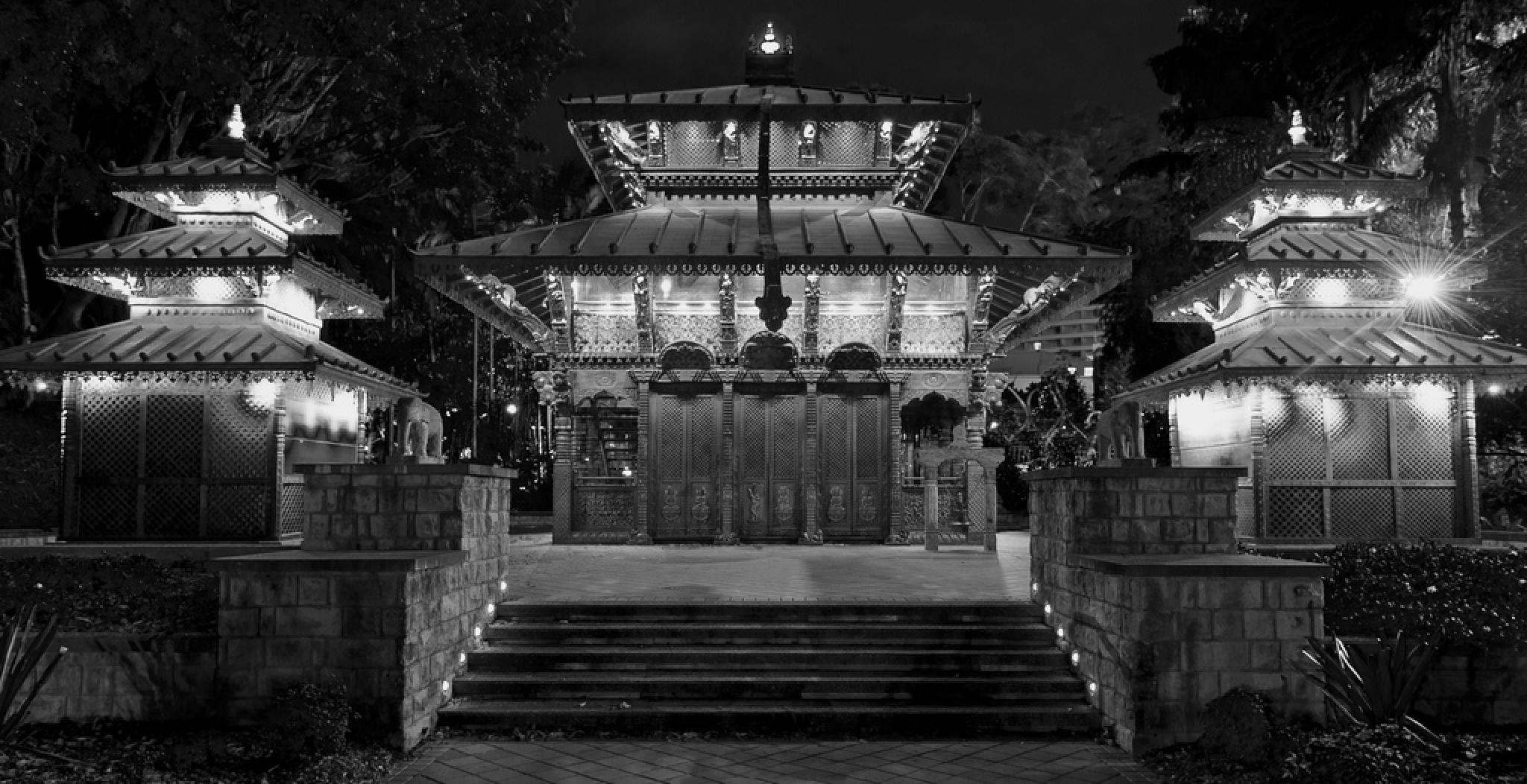Balinese Temple  by Neil Morgan