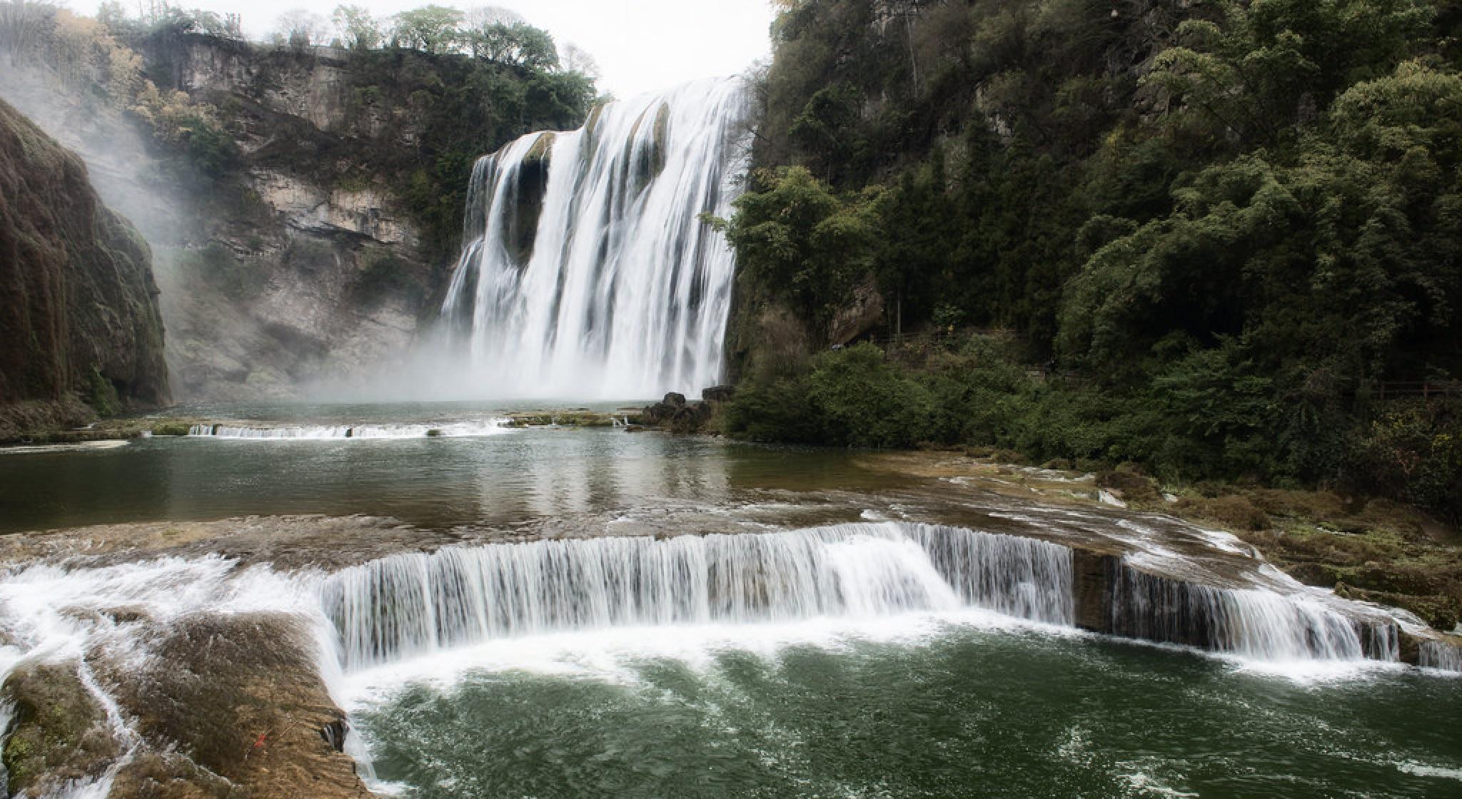 Huangguoshu Waterfall  by Neil Morgan