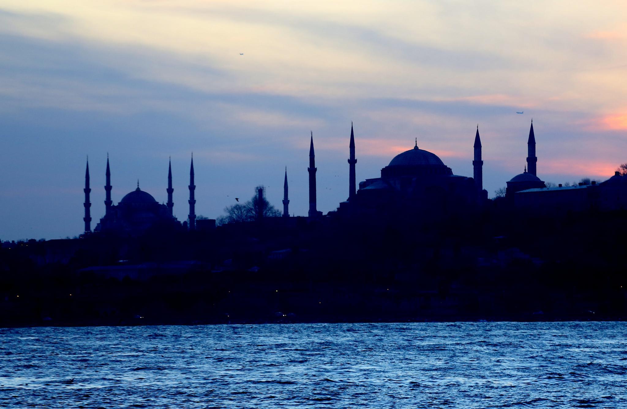Silhouette of the Mosques by Atila_Yumusakkaya