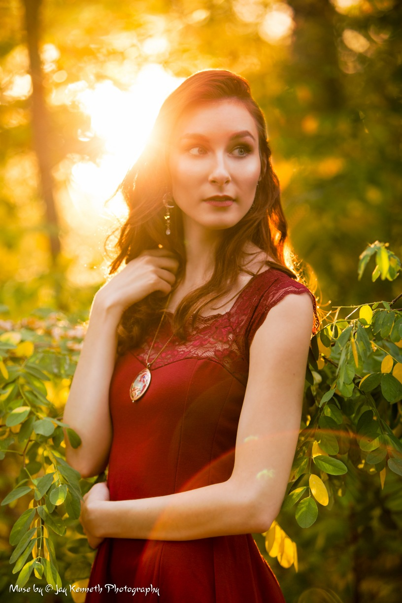 Red dress of Fall by Jay Kenneth Usselman
