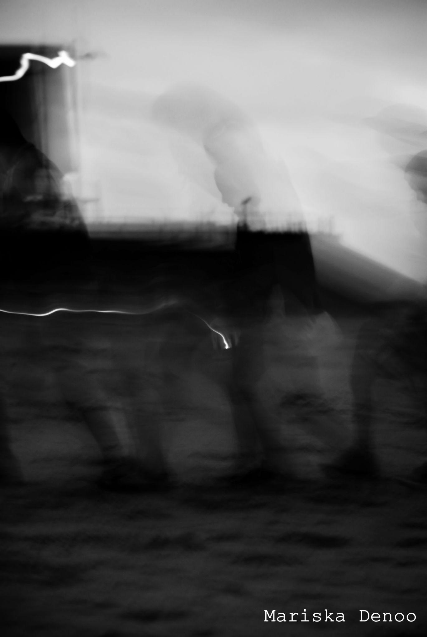 Walking shadows by Mariska Denoo