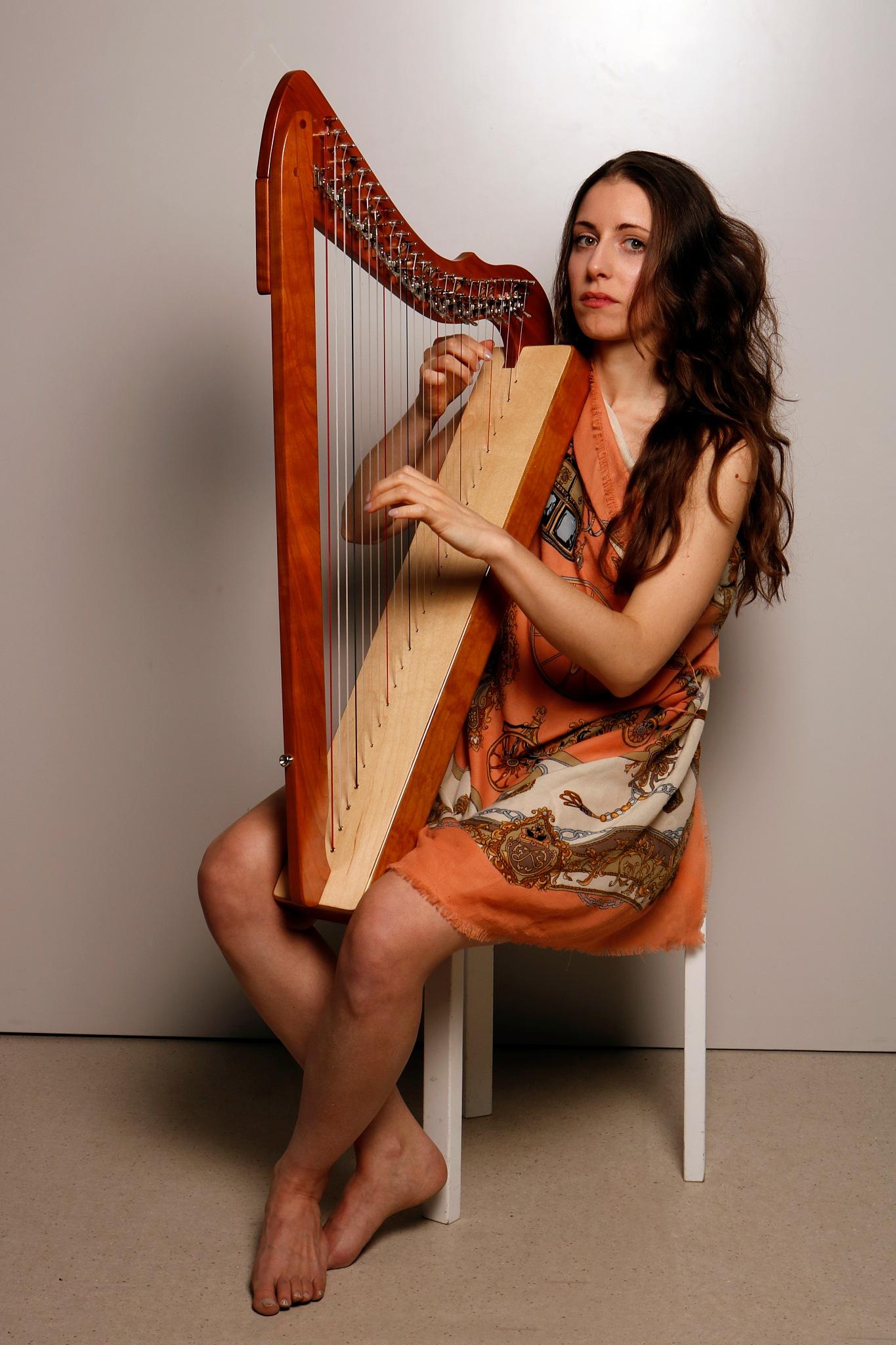 Harpist by Edwin Butter