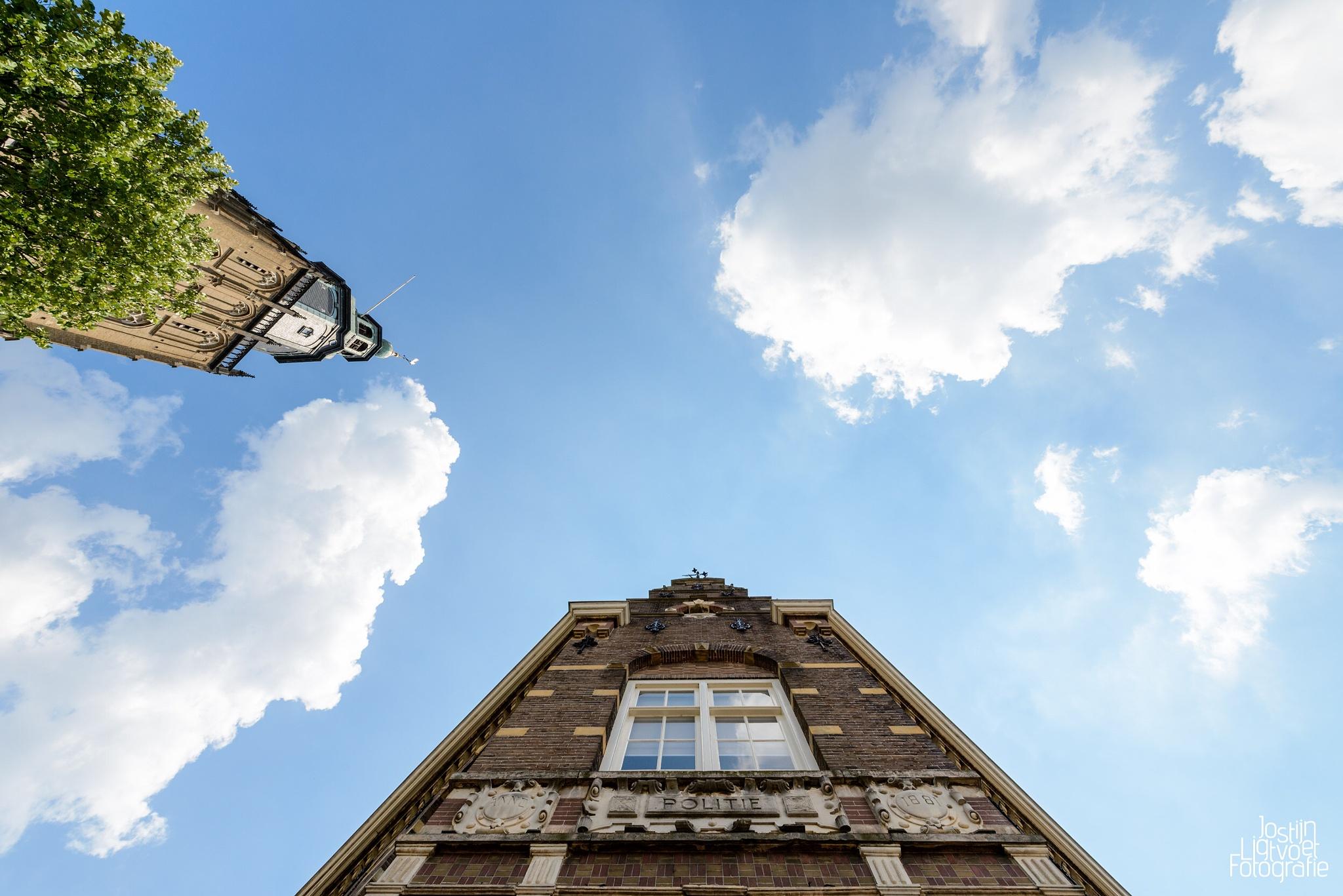 Photo in Street Photography #police #politie #police #station #zutphen #gelderland #nederland #the #netherlands #church #kerk #sky #blue #sky #lucht #blauwe #lucht #nikon #d600 #nikond600 #nikkor #nikkor #14-24mm #f/2.8 #ed #1424mm #14-24mm #nikontop #nikonfx