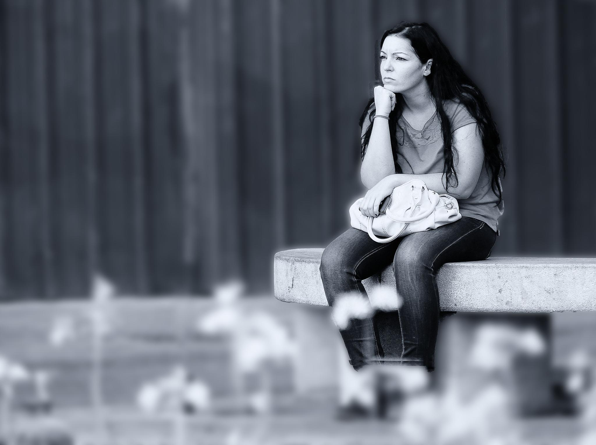 Photo in Black and White #miradas #calle #blanco y negro