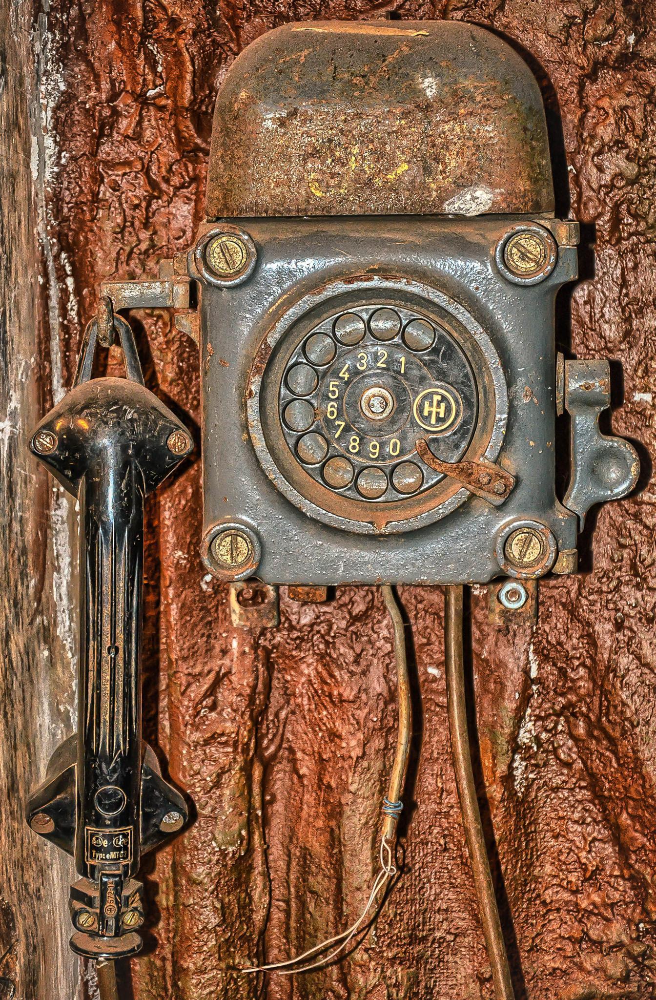 Old mining phone  by Rakocevic Dragan
