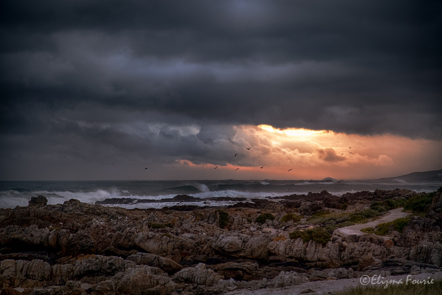A Cold Sunset by Elizma Fourie