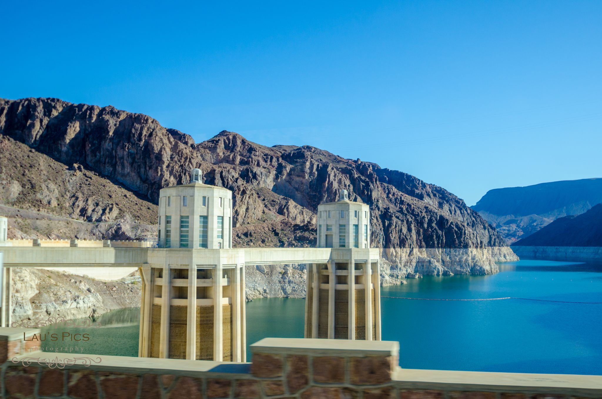 Colorado River at Hoover Dam by lauspics