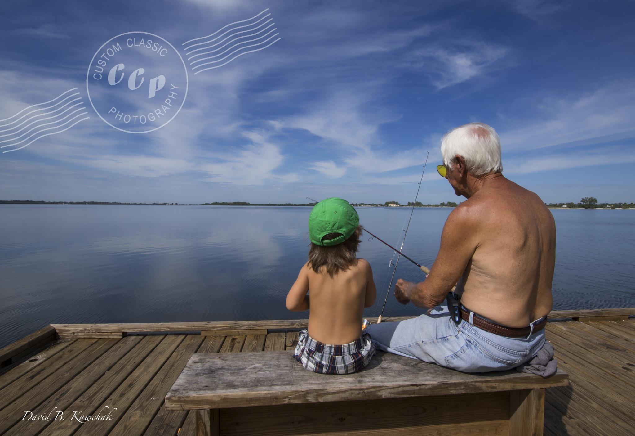 Fishing with Pappy by davidbrucekawchak
