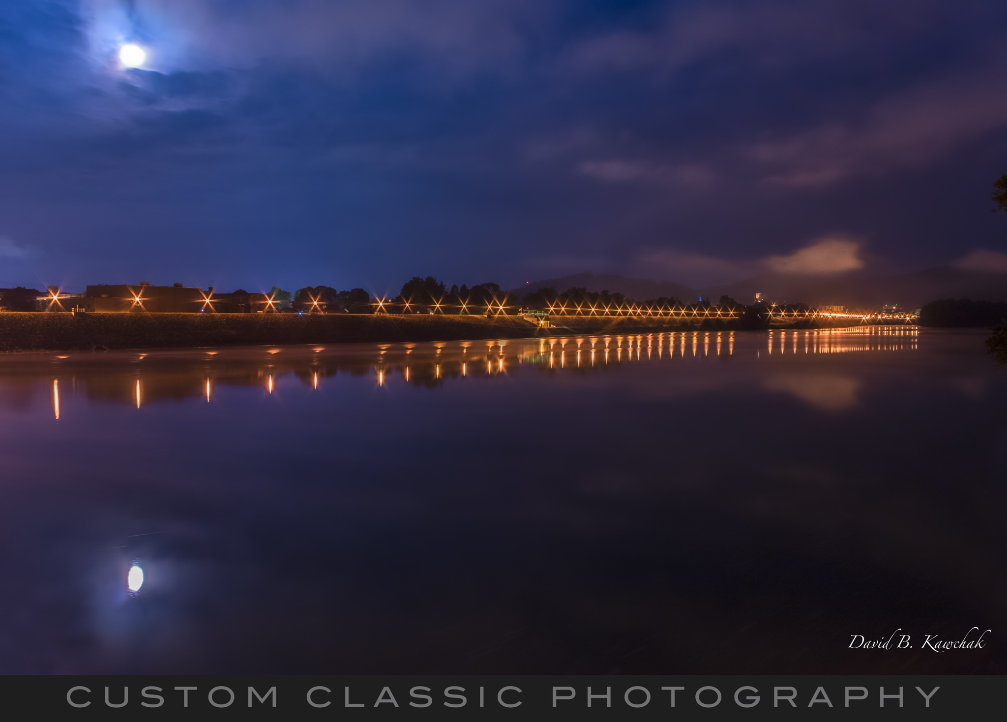 Night along the river by davidbrucekawchak