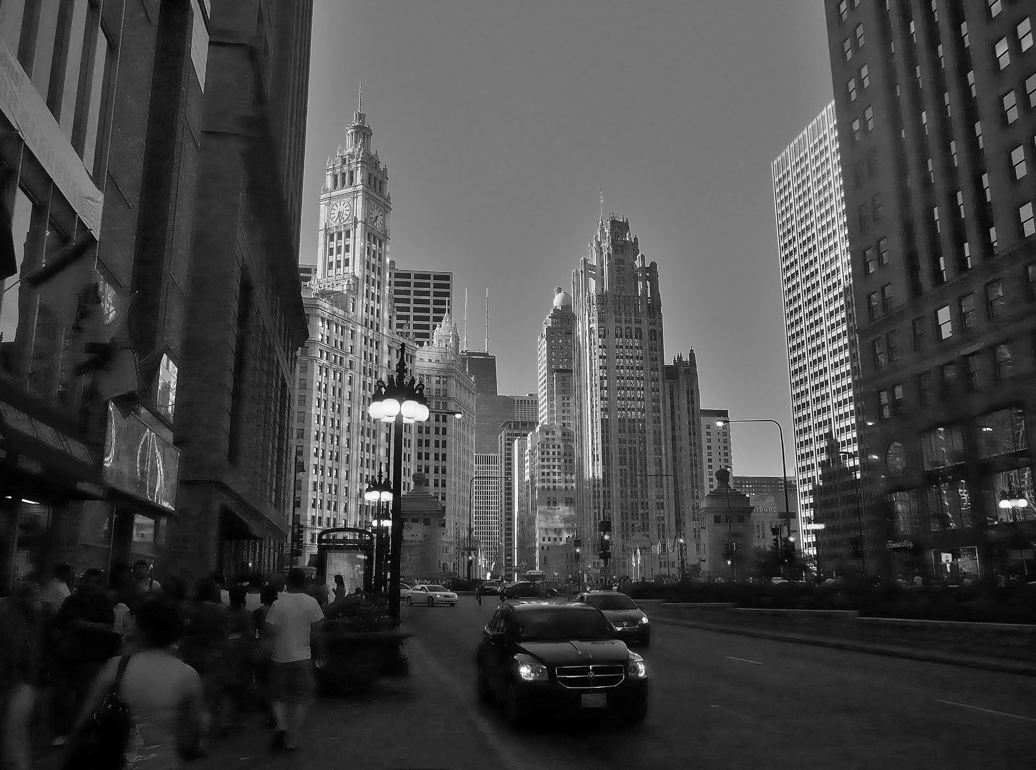 Chicago Evening by junkshopfiddler