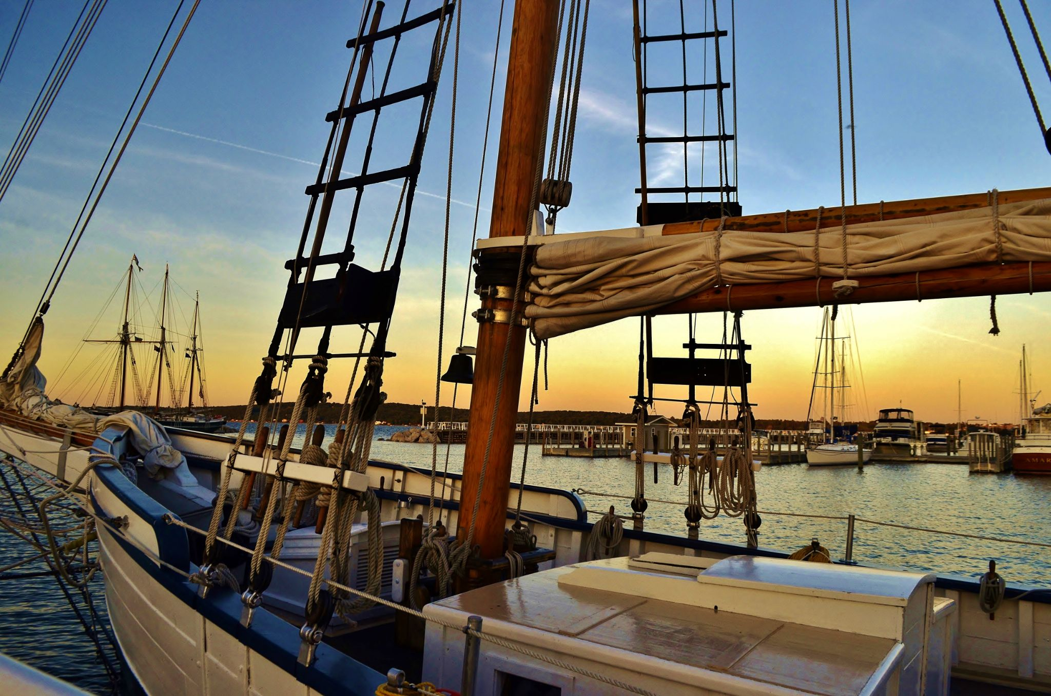 Schooners at Dusk by junkshopfiddler