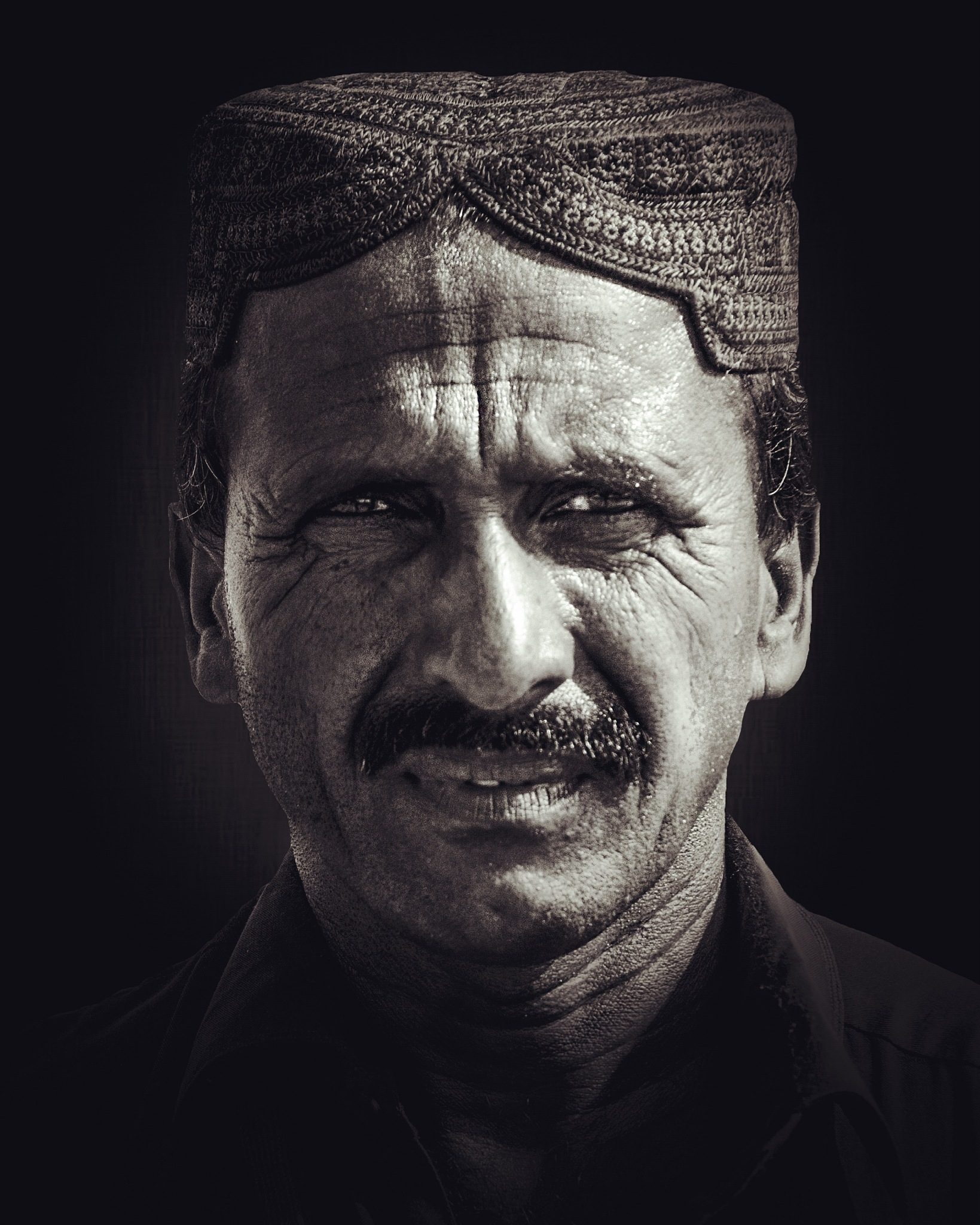 portrait by Hassan Khan