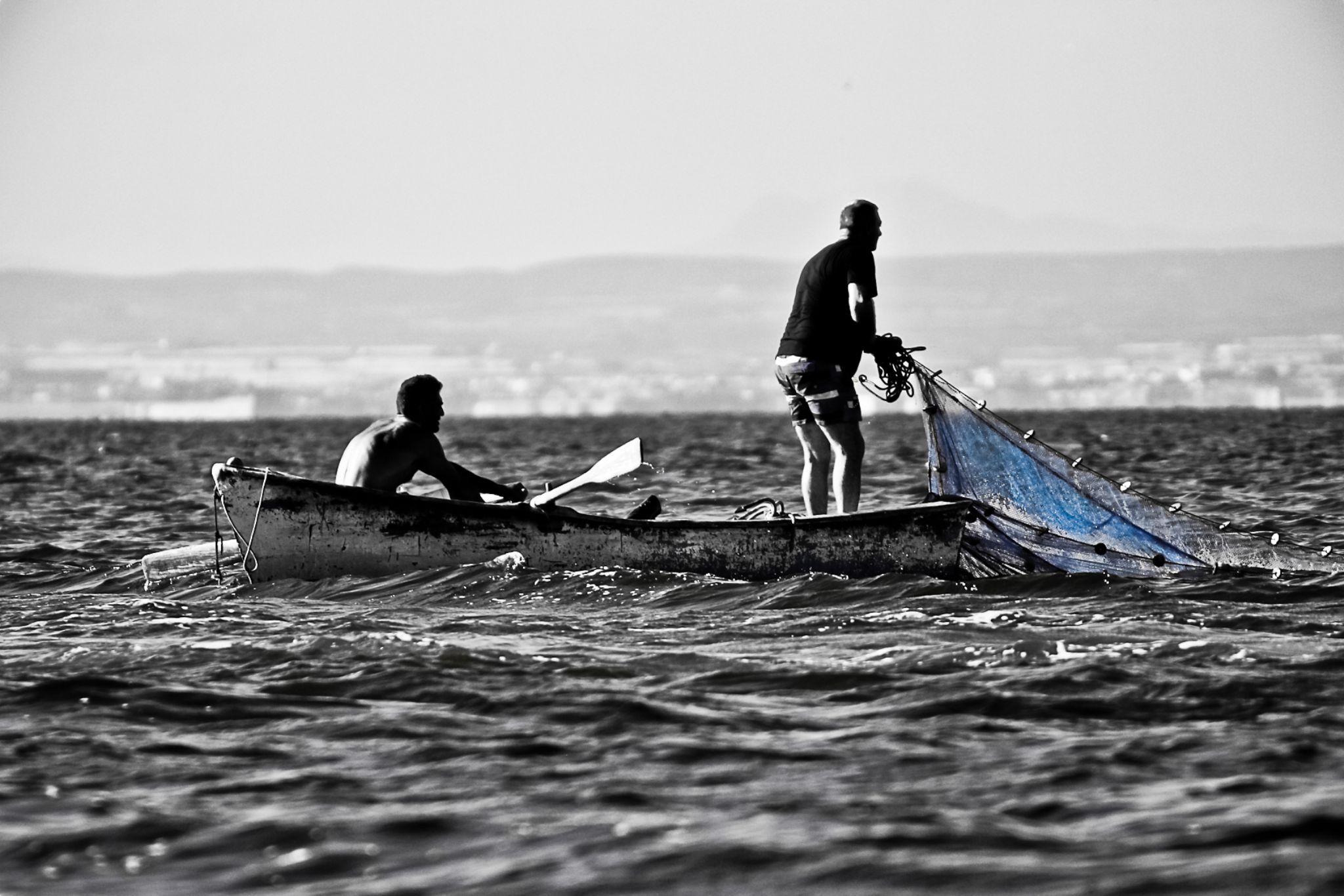 Pesca Langostino Mar Menor by pepereyphotography