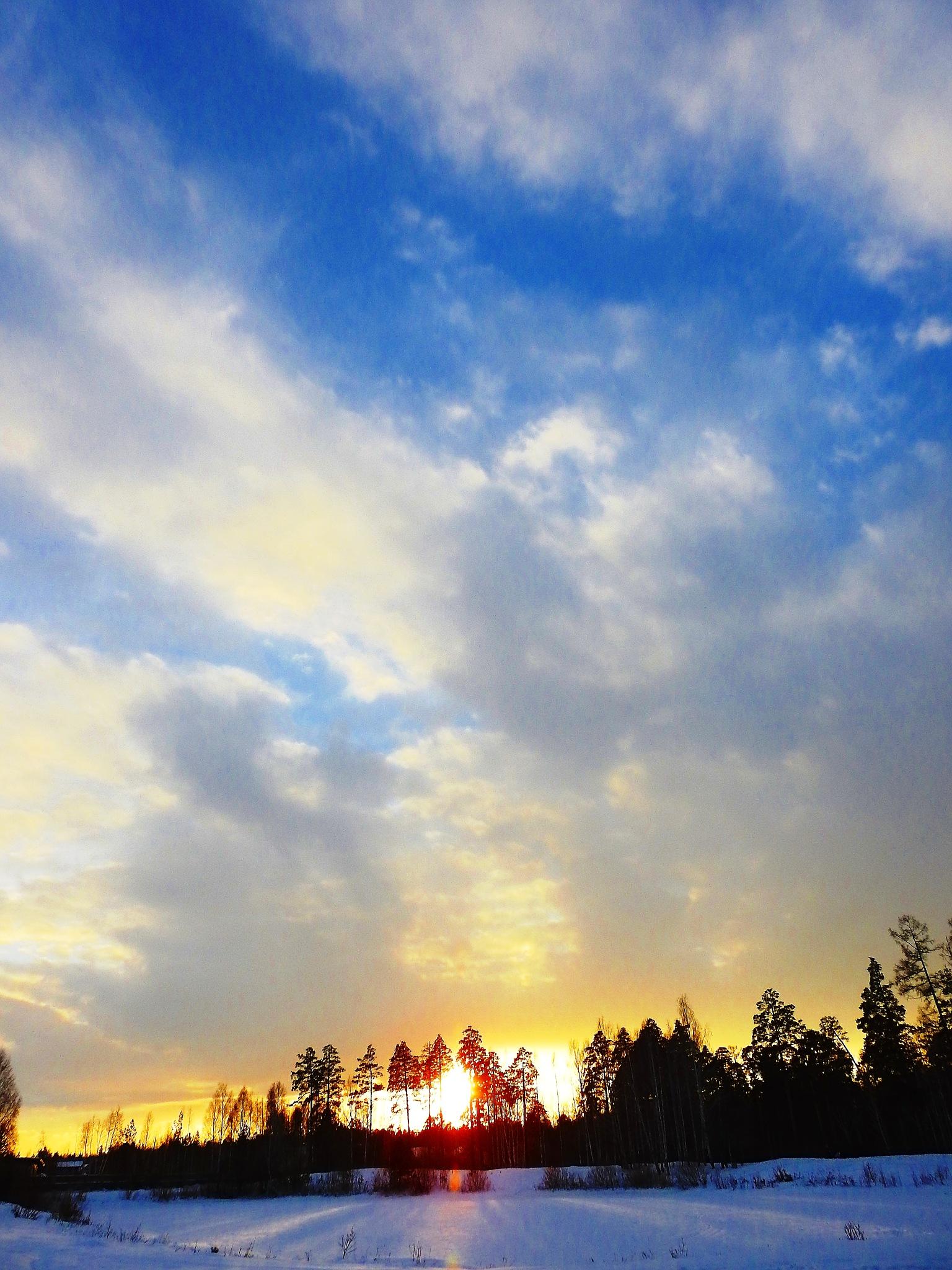 Evening sky by sergey.parfeniuk
