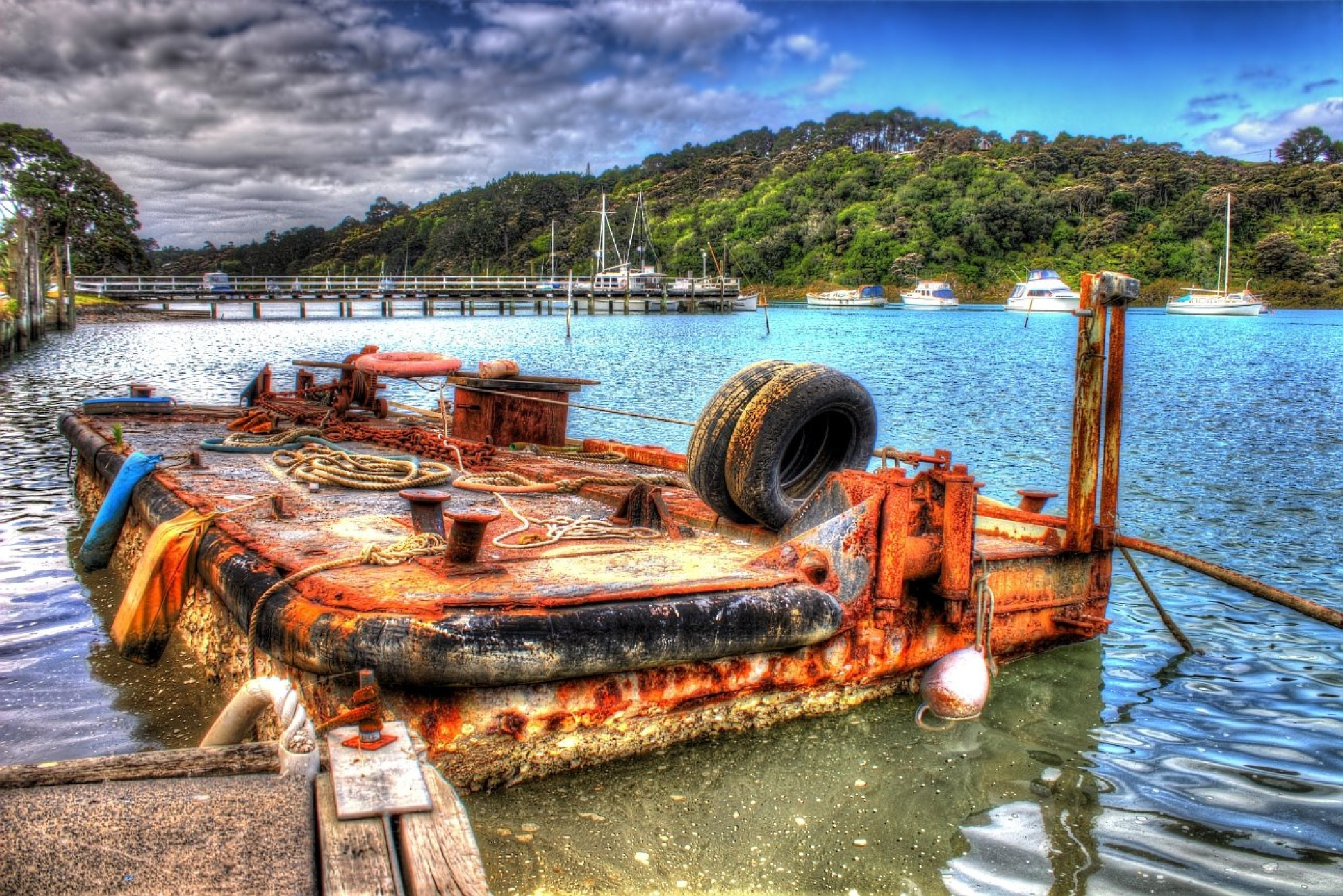 Rusty Barge by Simons Photography