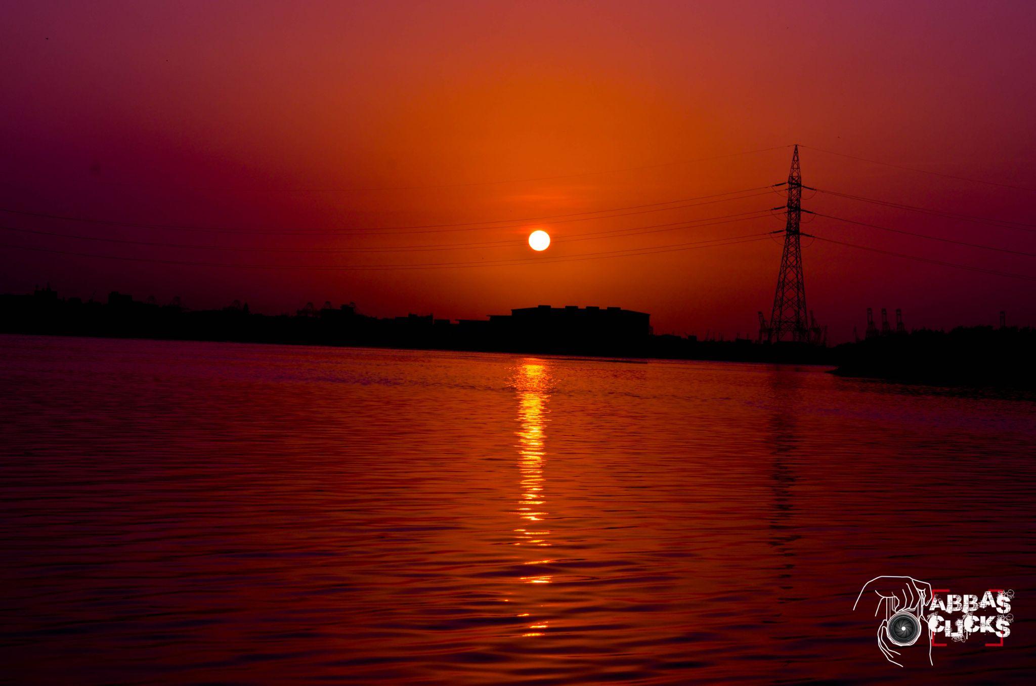 Sun Set View at Benazir Park Karachi by abbas haider