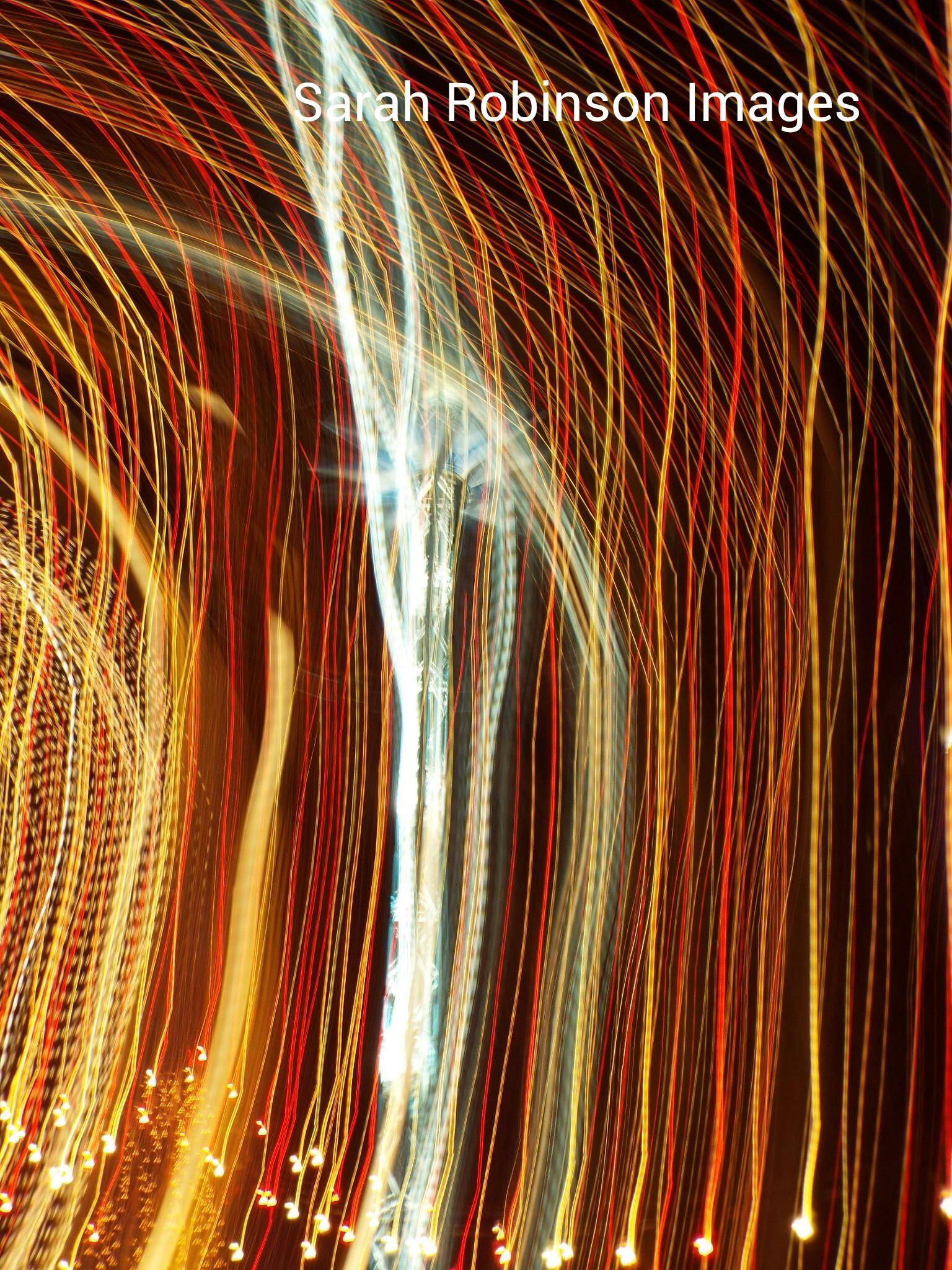 light trails by Sarah Langton