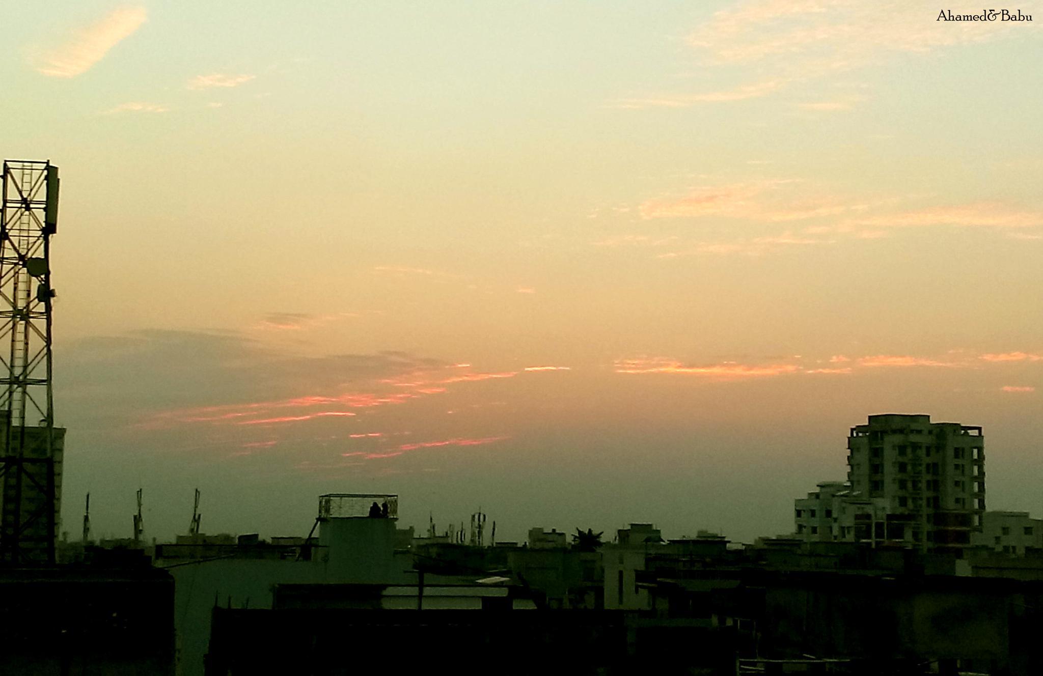 Dusk on Dhaka by Ahamed Babu