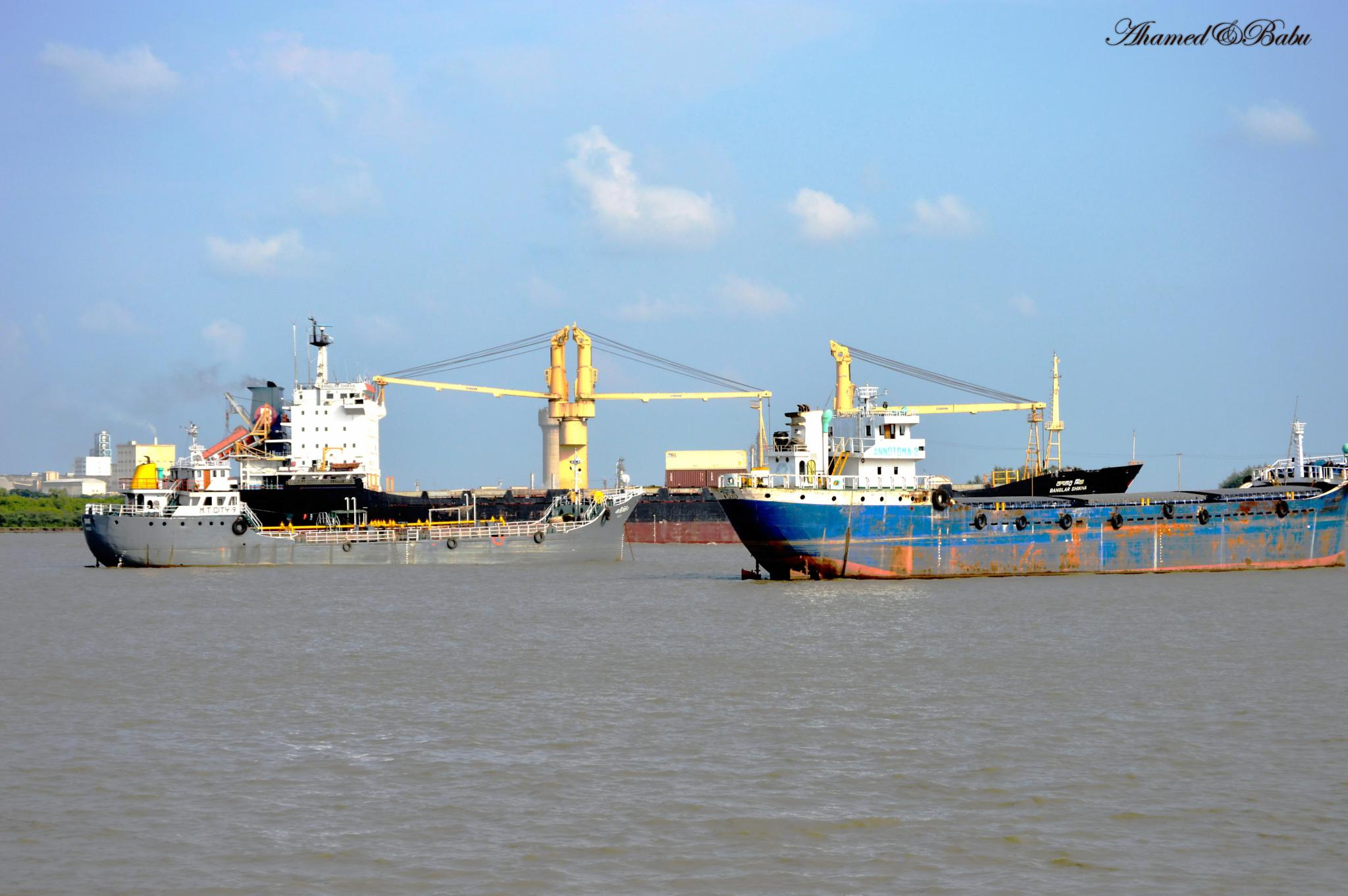 The Port of Chittagong by Ahamed Babu
