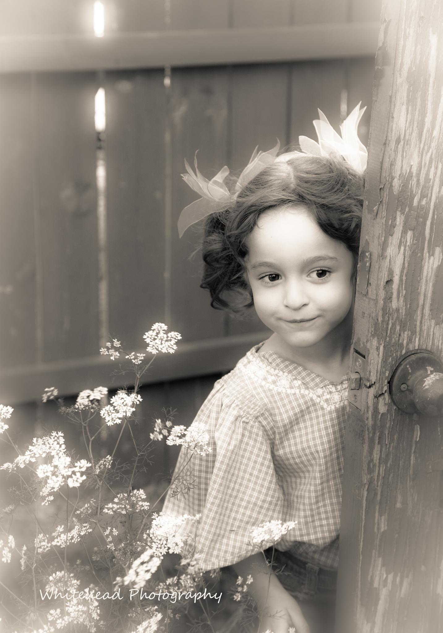 """Cambria at 4yrs old """"Around The Door"""" by vincent.whitehead.3"""