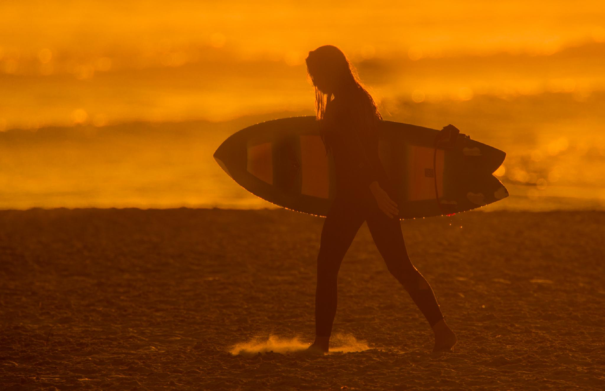 Photo in Sea and Sand #beach #sport #sunset
