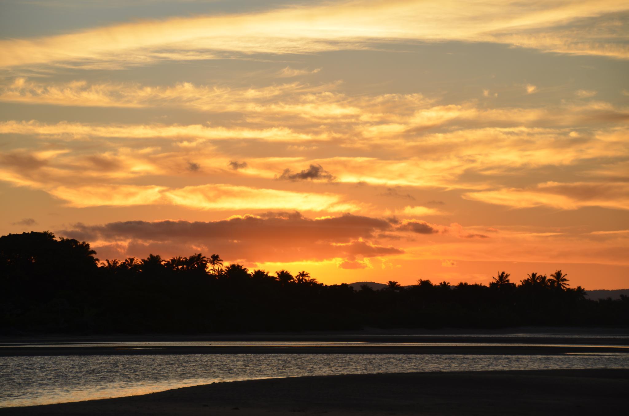 Sunset on the river Carapitangui by ClaudioBezerra