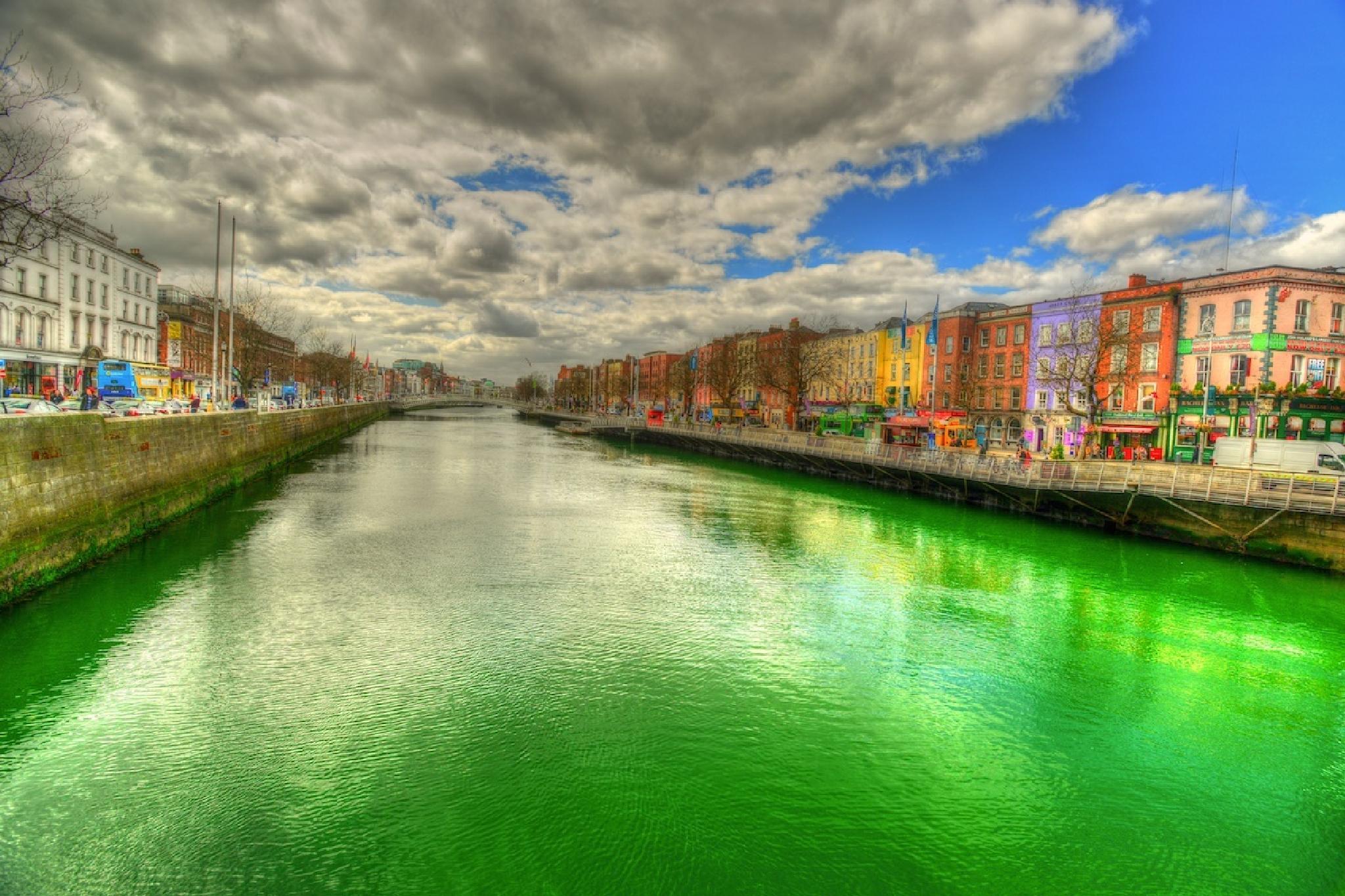 River Liffey Dublin Ireland by Rob Richardson