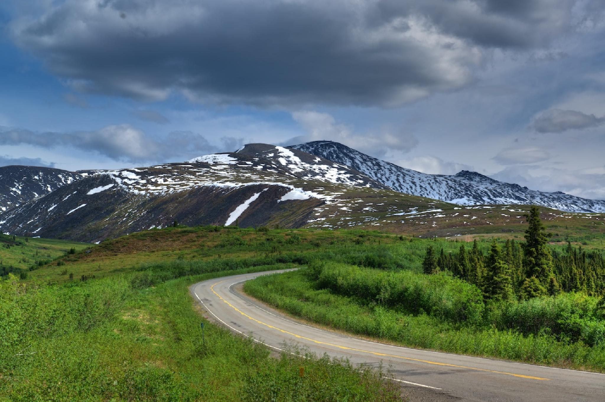 Photo in Landscape #mountain #road #snow