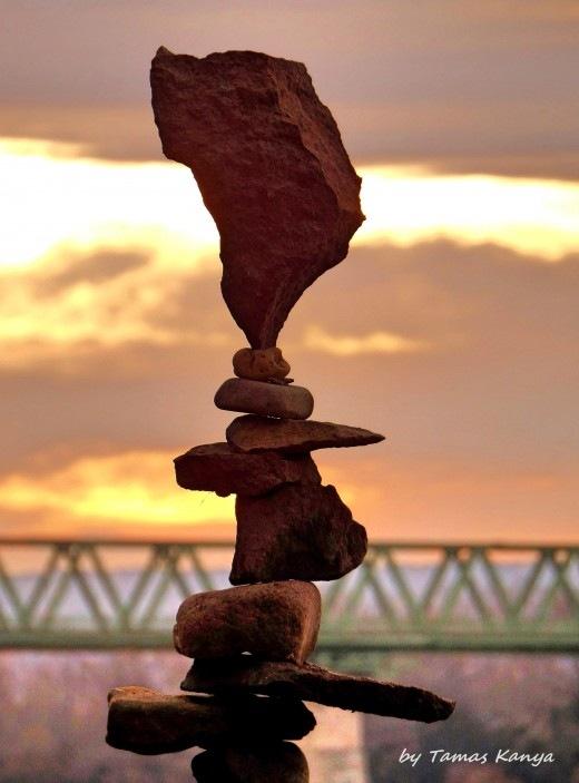 Stone balance art from Hungary by tamas kanya by Tamas Kanya