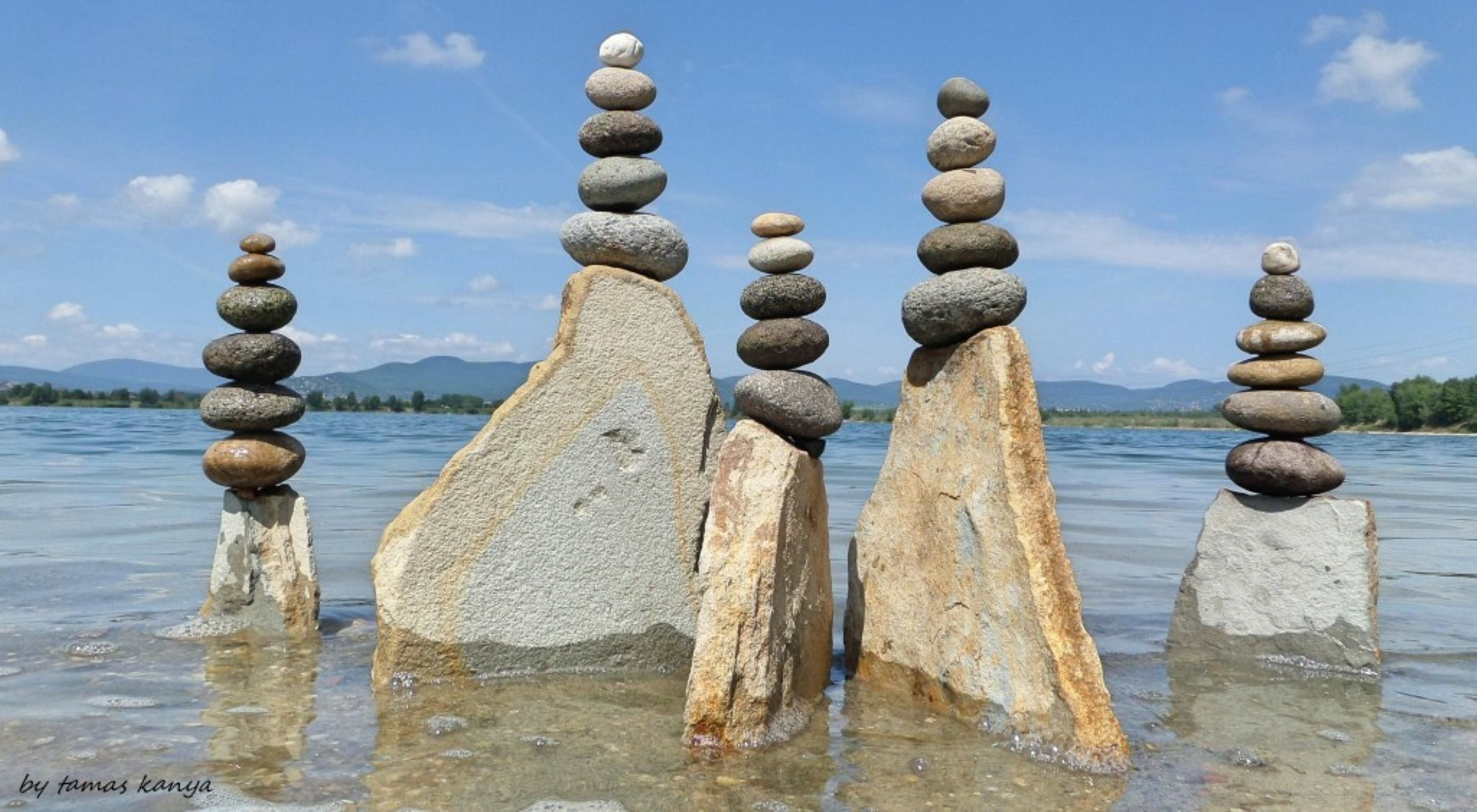 Stone balance composition in Hungary by tamas kanya by Tamas Kanya