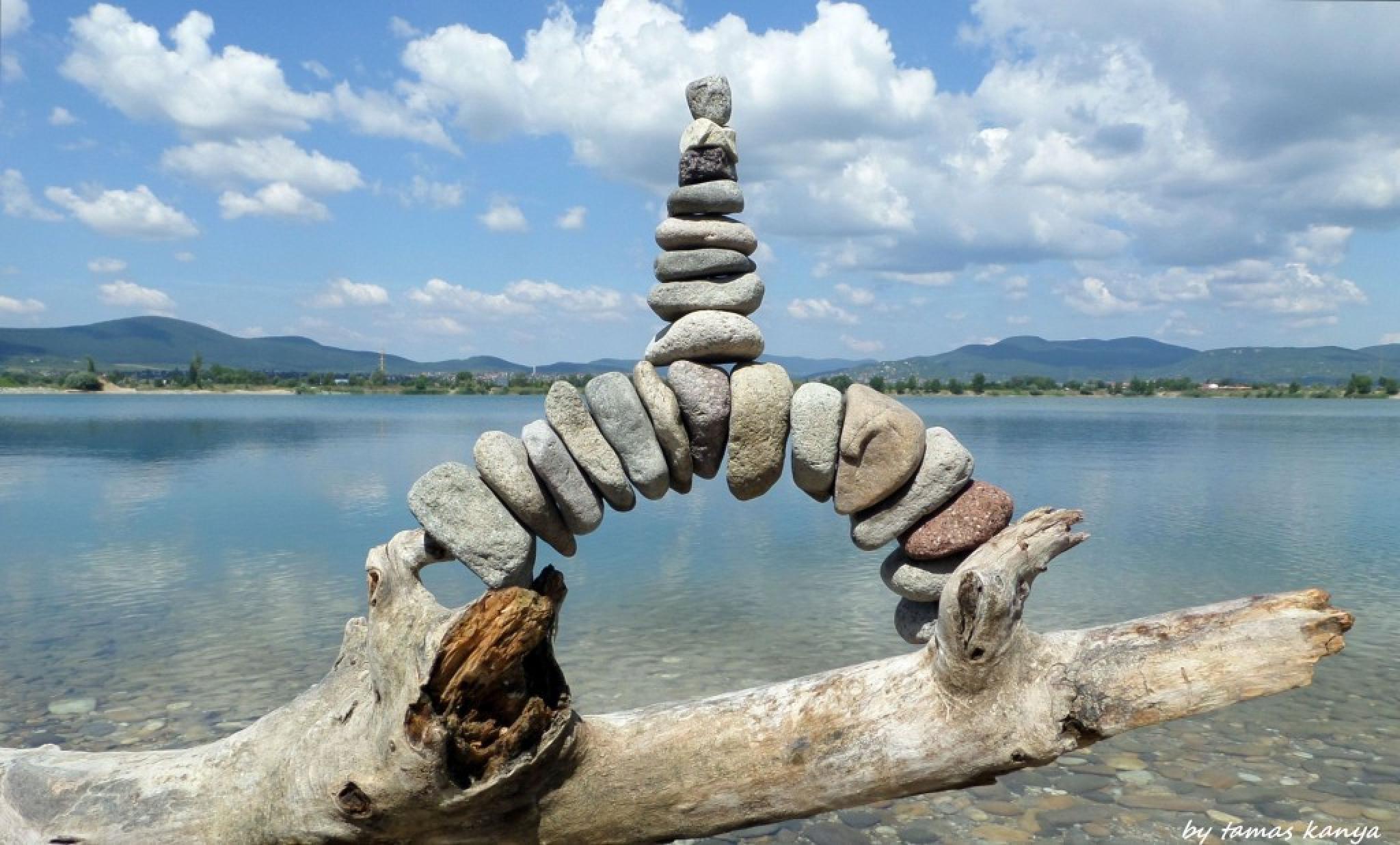Stone balance in Hungary by tamas kanya by Tamas Kanya