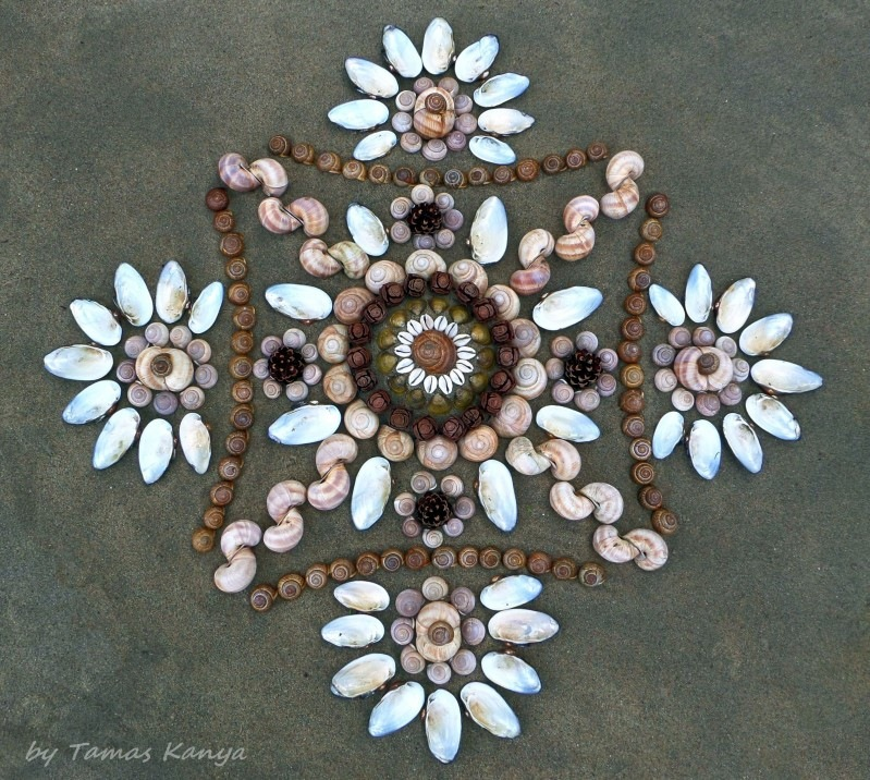 Land art mandala from Hungary by Tamas Kanya by Tamas Kanya