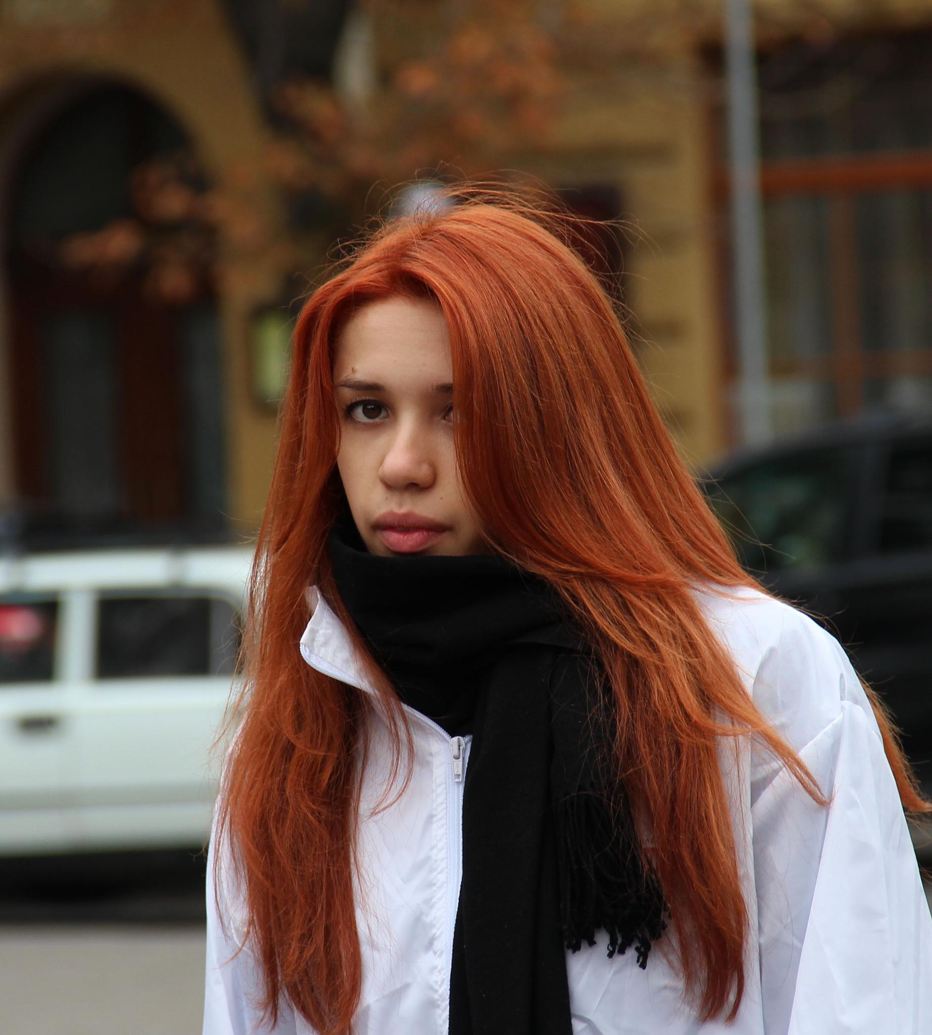 Streets of Lvov - beautiful girl of Lvov by Stanislaw Bomba