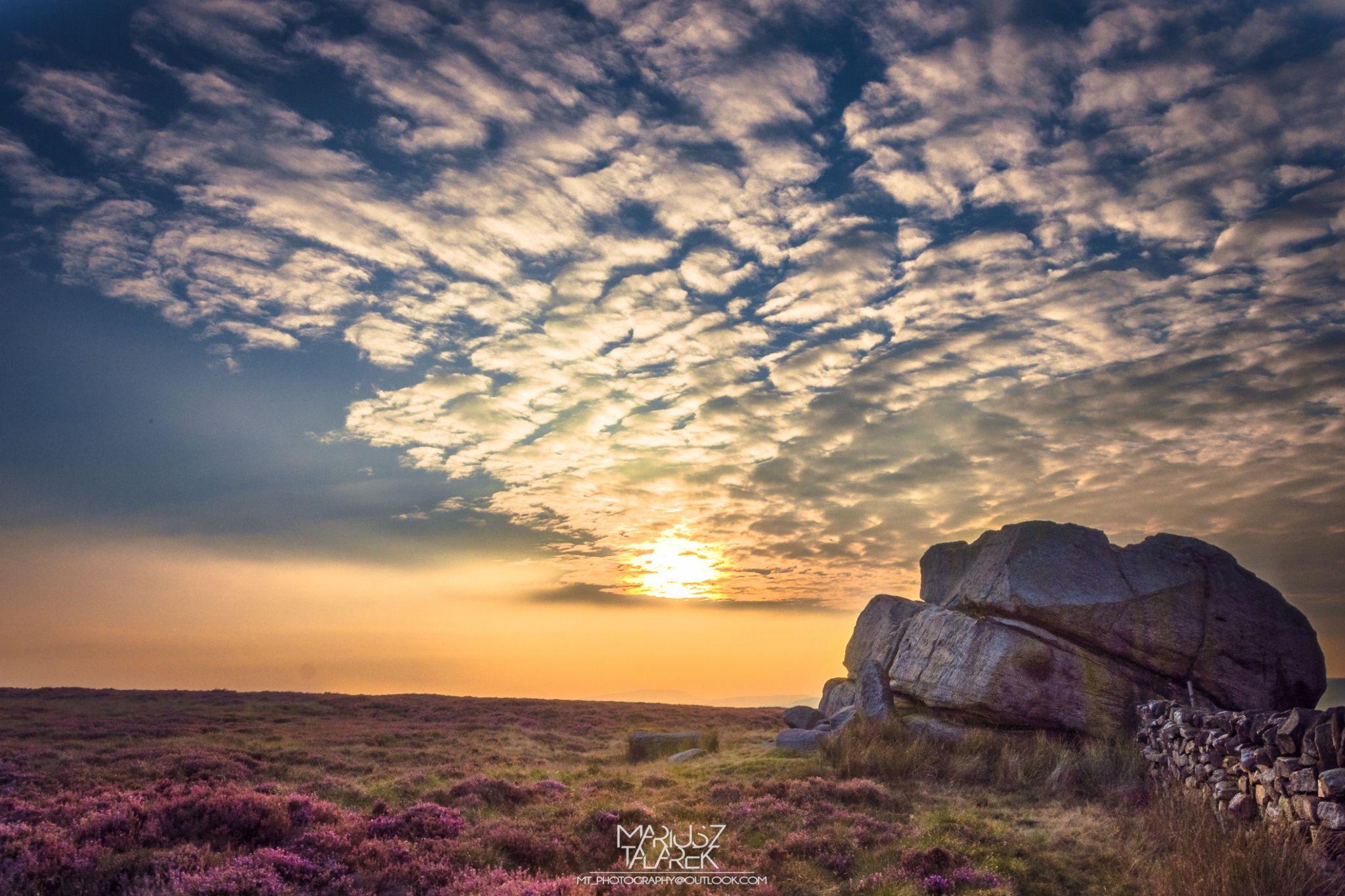Sunset in Keighley Moor by Mariusz Talarek