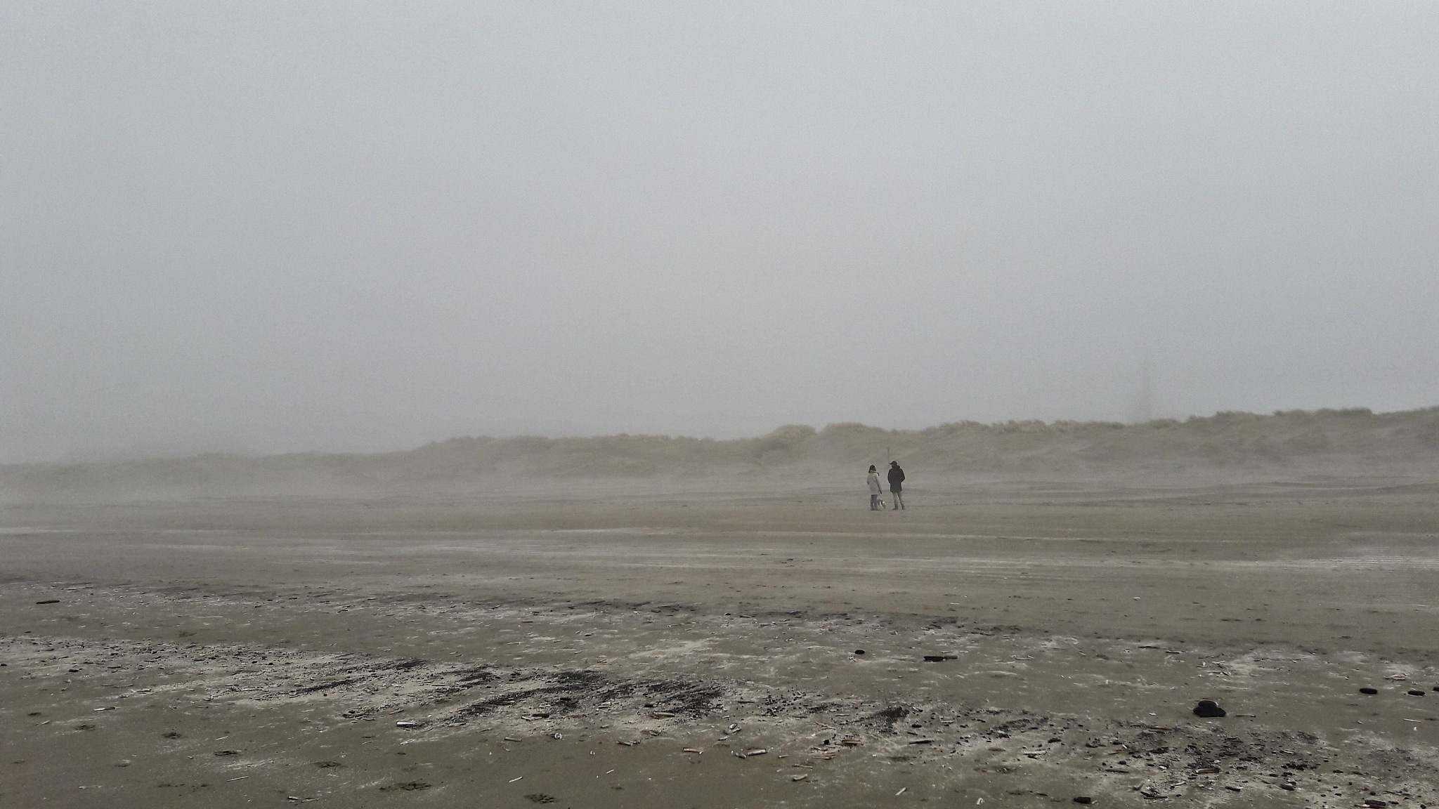 Misty beach by Hero Tammes Buirs