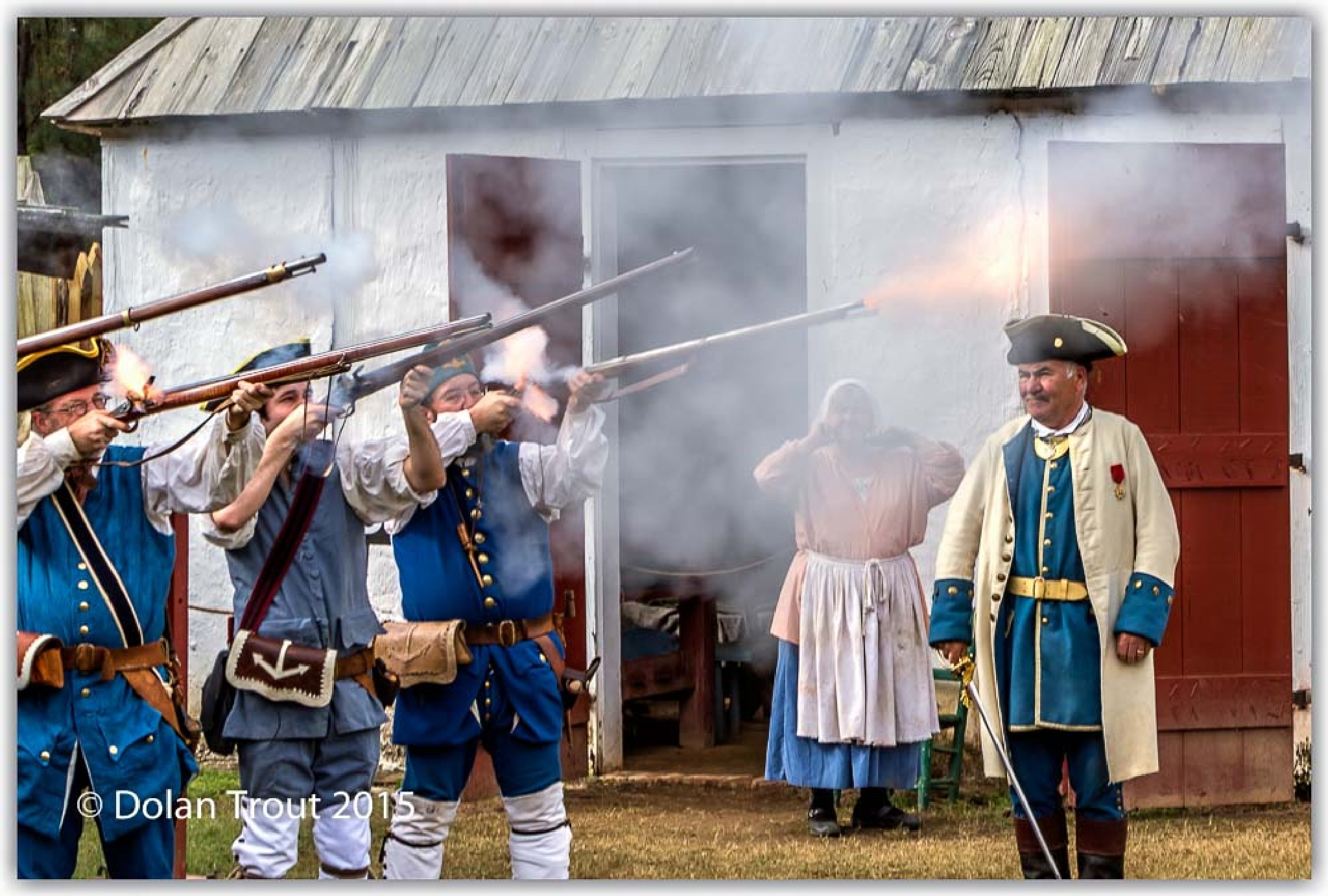 French soldiers firing their black powder rifles by bluesydude