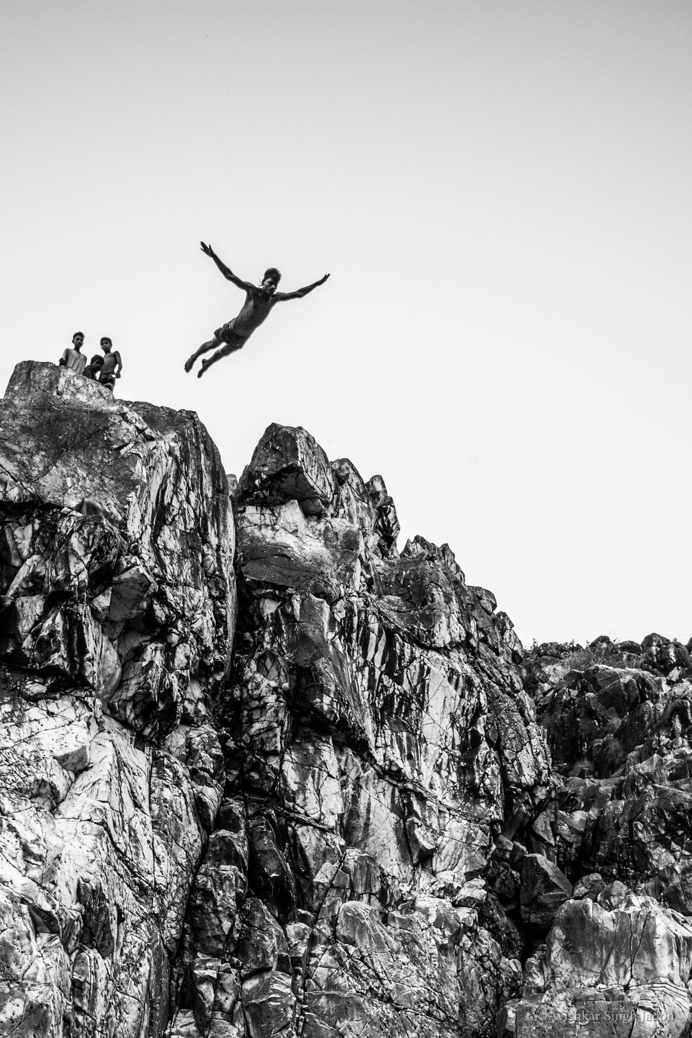 Cliff diver by Avishkar Singh Jadon