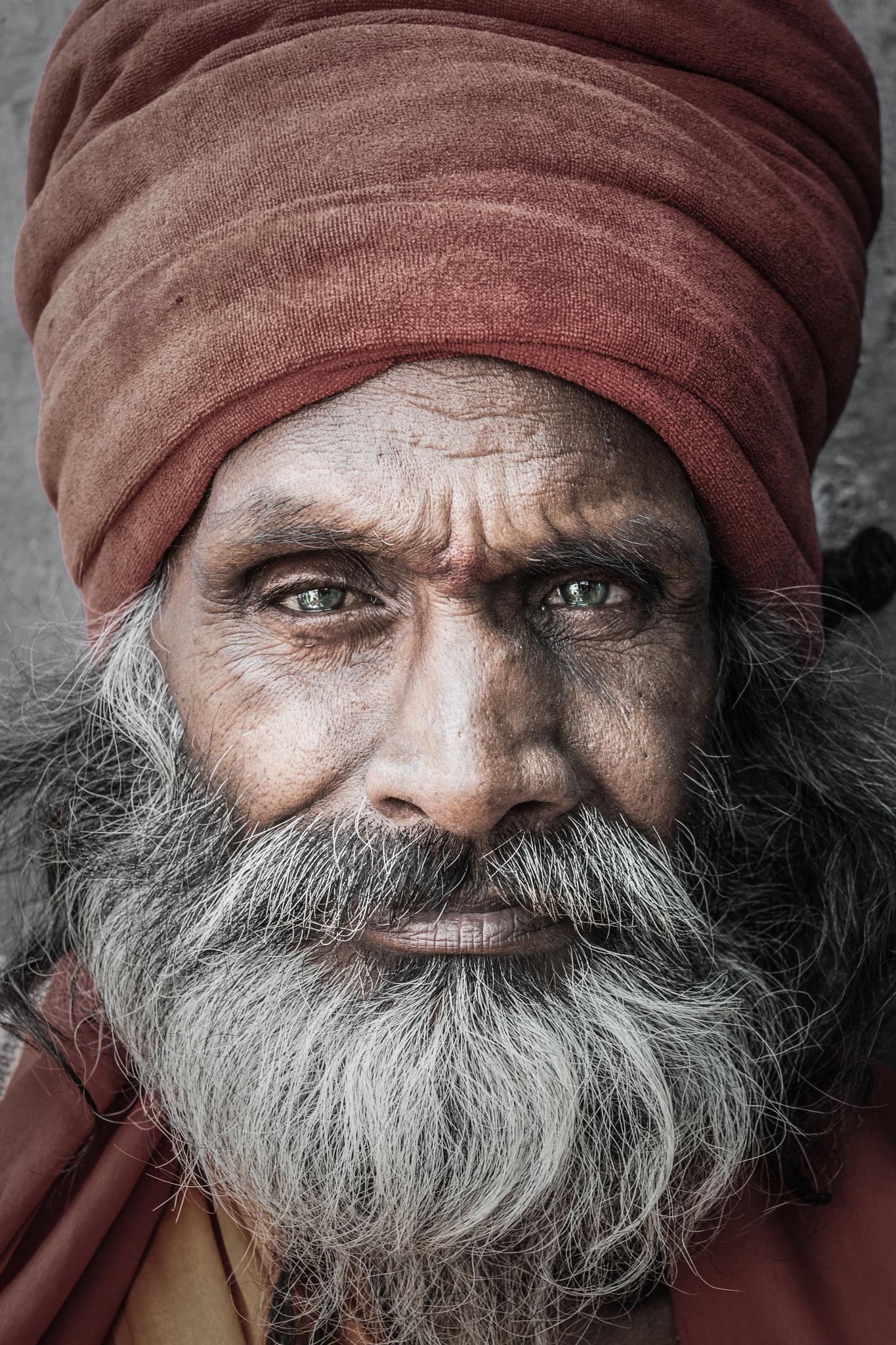 Photo in Portrait #saint #india #portrait #face #aggressive #fearless #festival