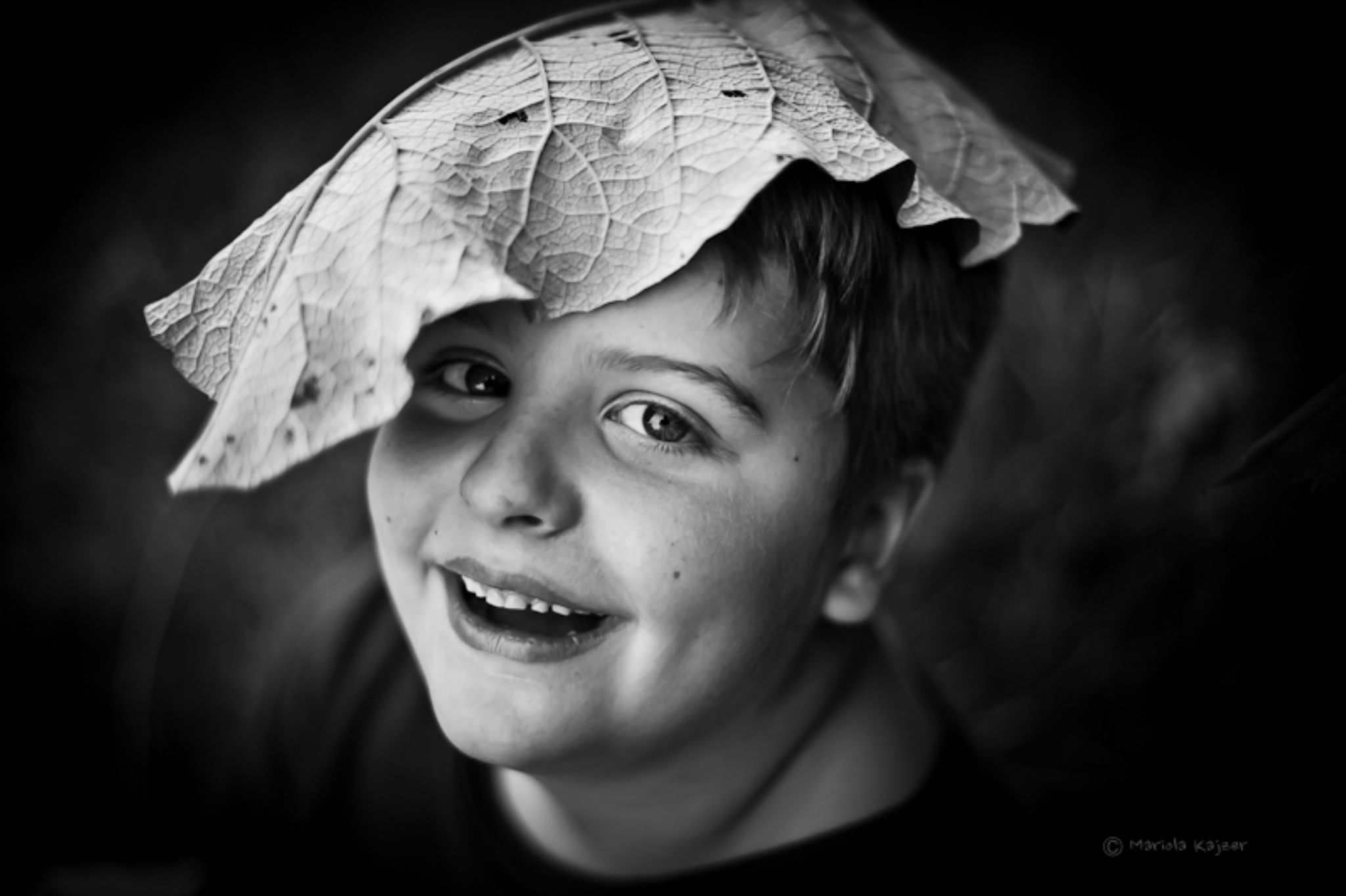 boy with leave 2 by mariola.kajzer.1