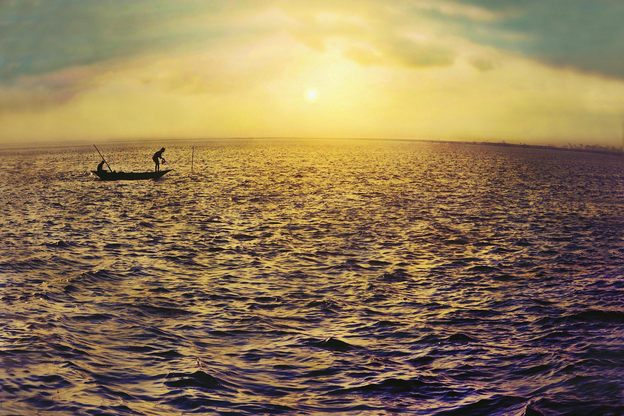 Fishing at golden hour  by oliurpritom