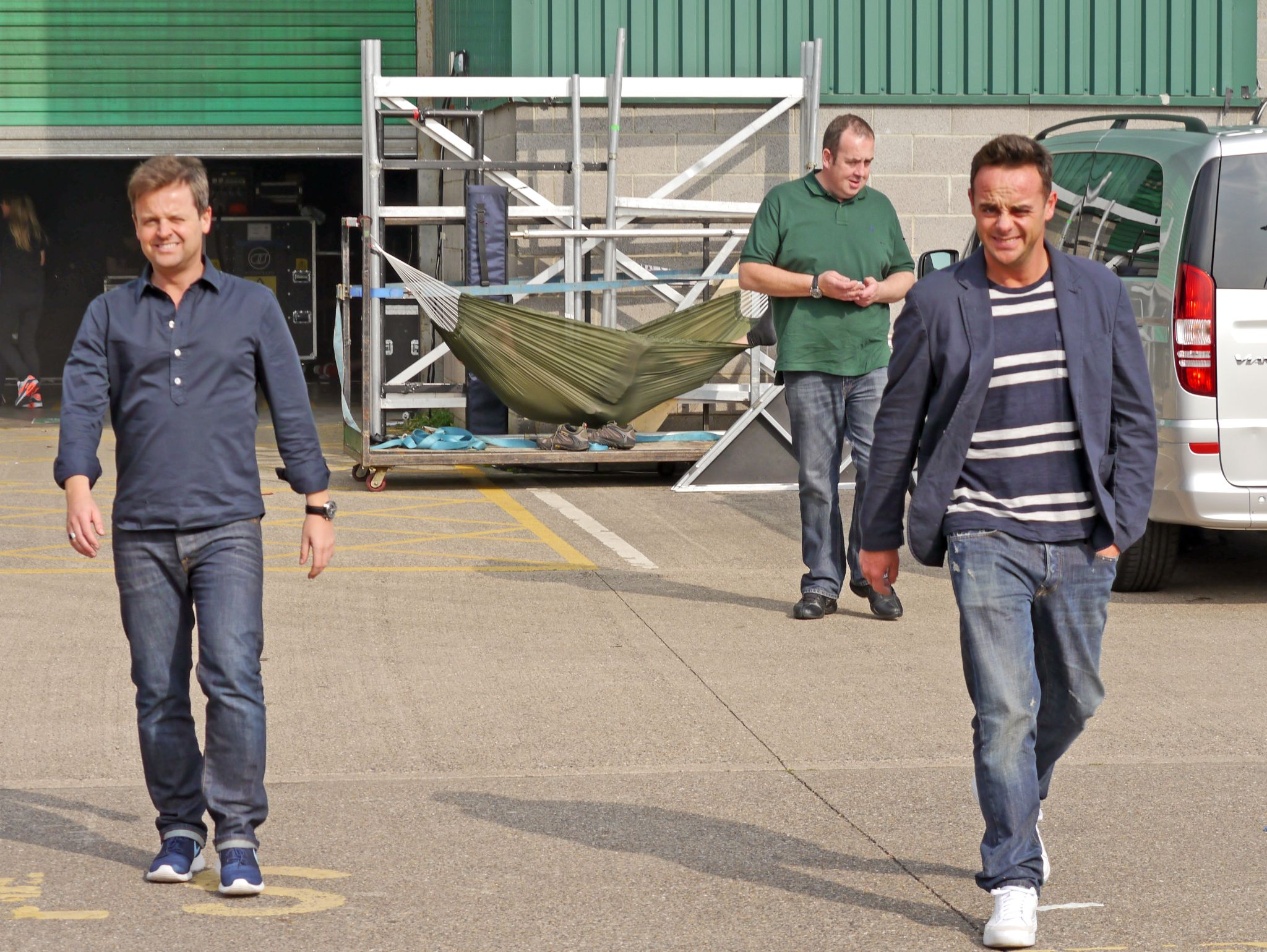 My photo of Ant and Dec at the Metro Arena Newcastle this afternoon. by Darren Turner