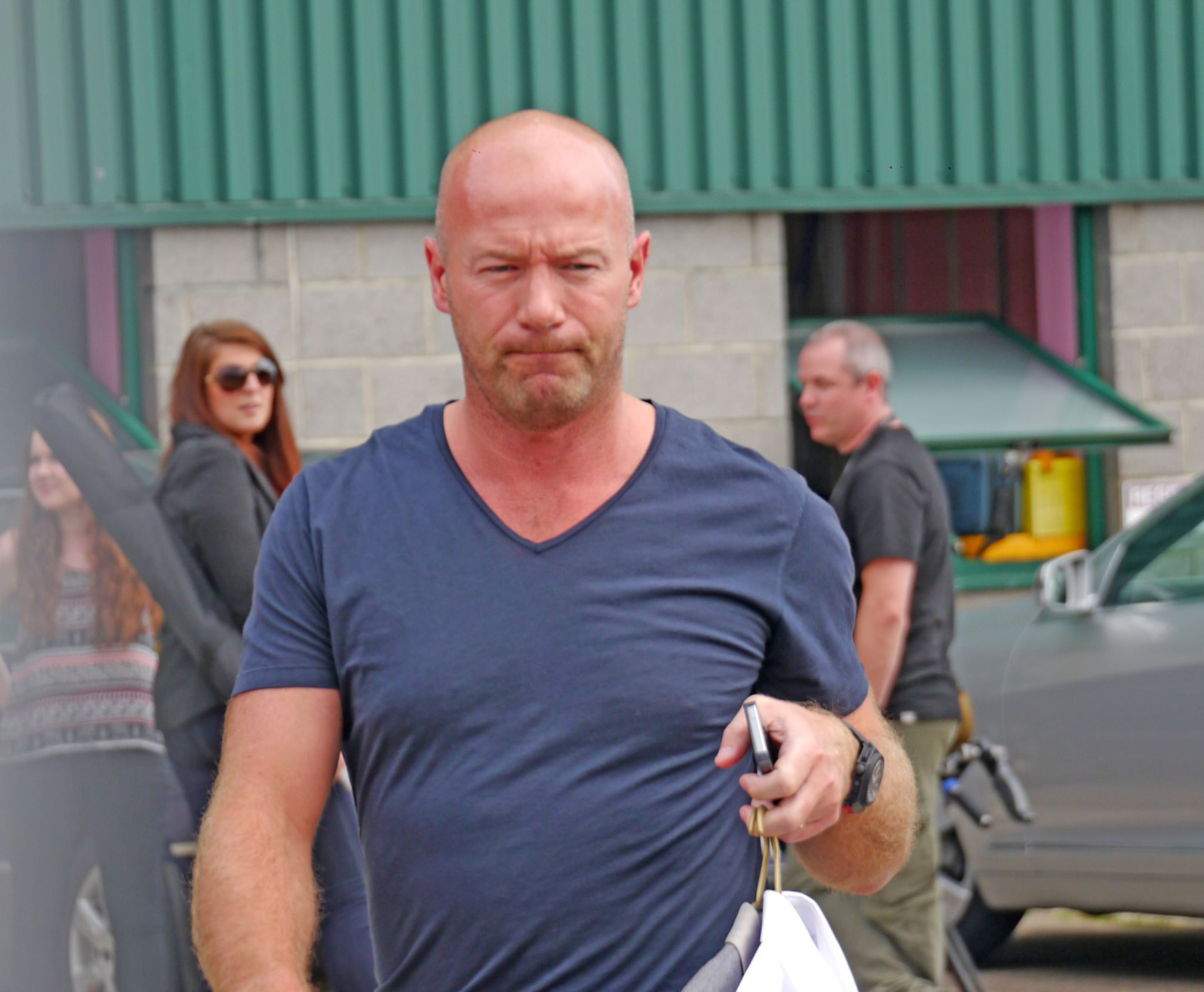 My photo of Alan Shearer at the Metro Arena Newcastle this afternoon. by Darren Turner