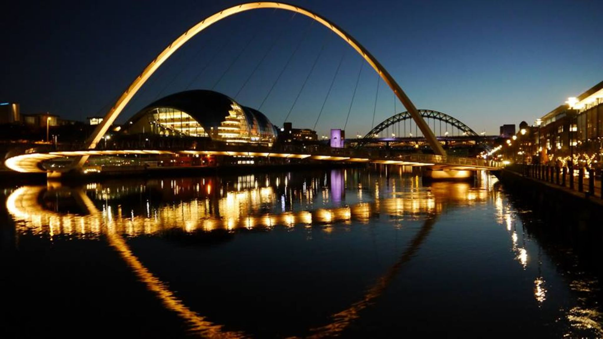 Reflections on the River Tyne Newcastle by Darren Turner