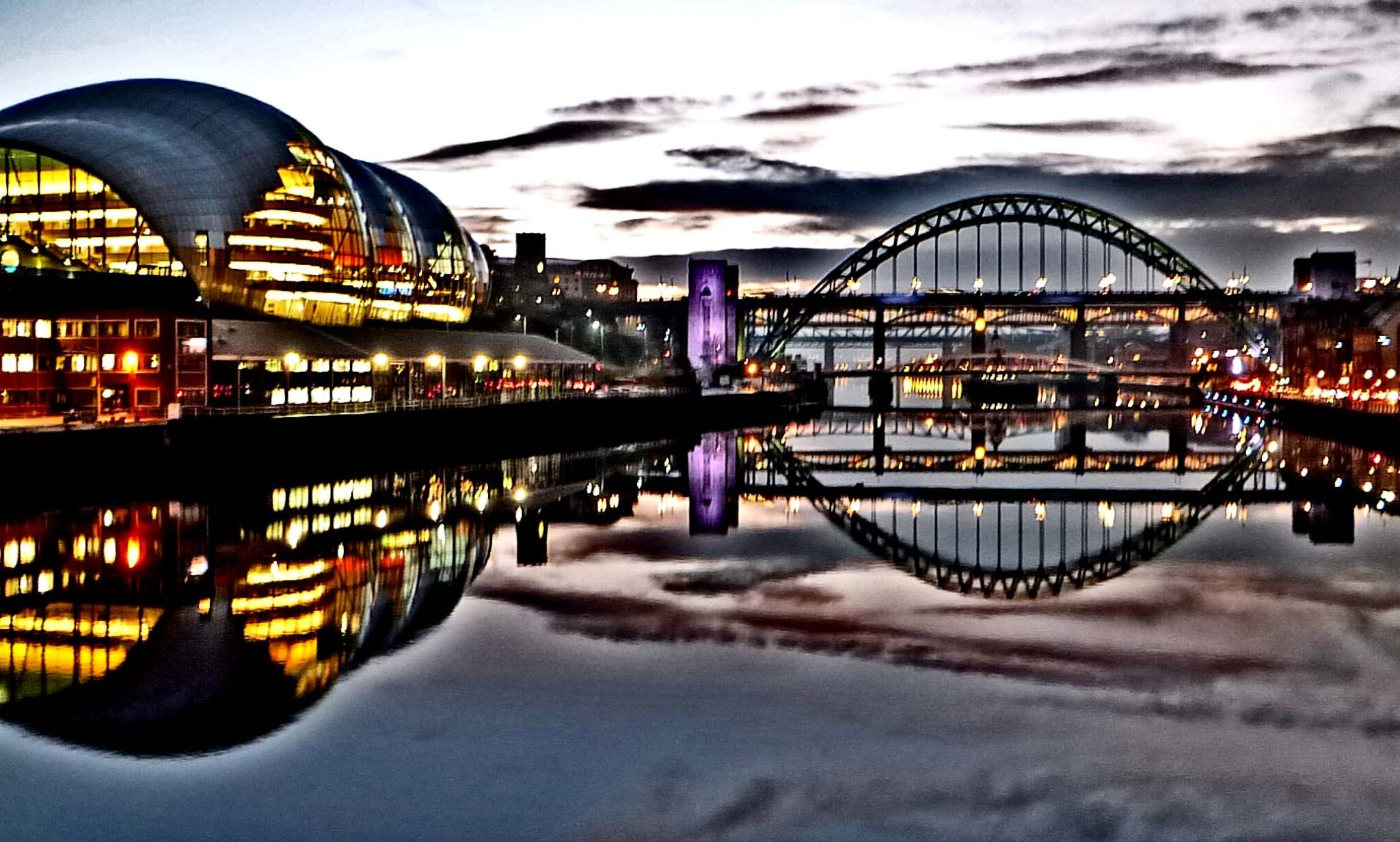 Reflections on the River Tyne by Darren Turner