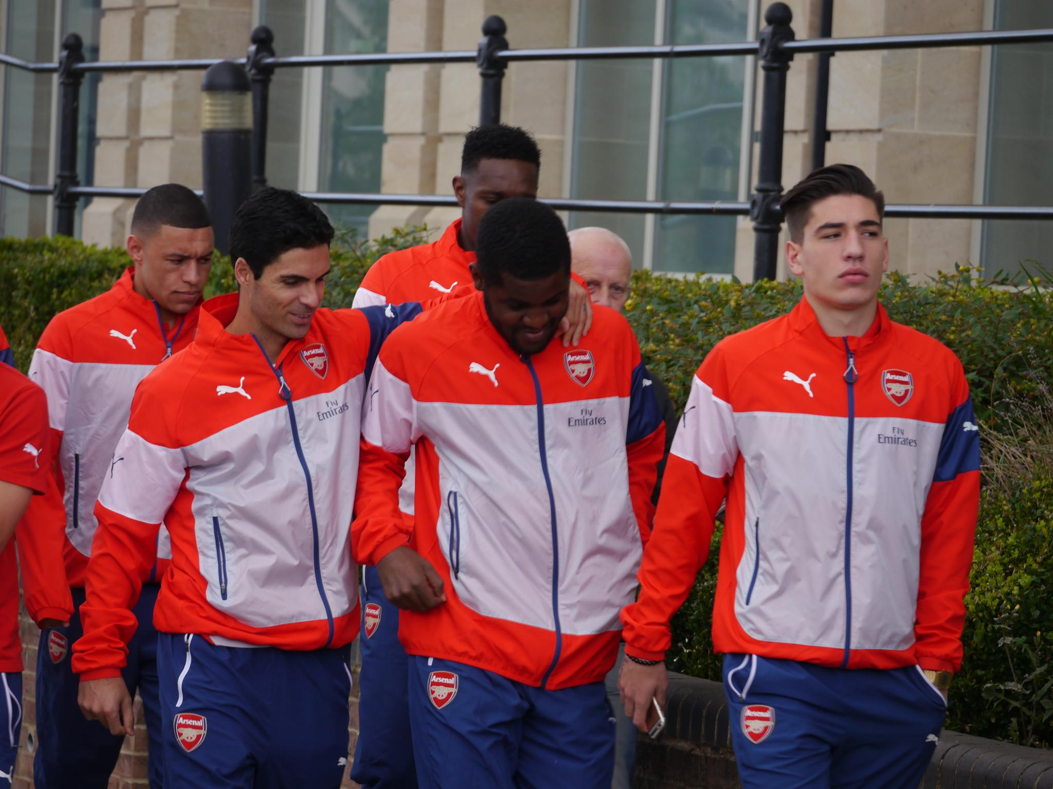 Arsenal FC today on a walk in Durham this morning. by Darren Turner