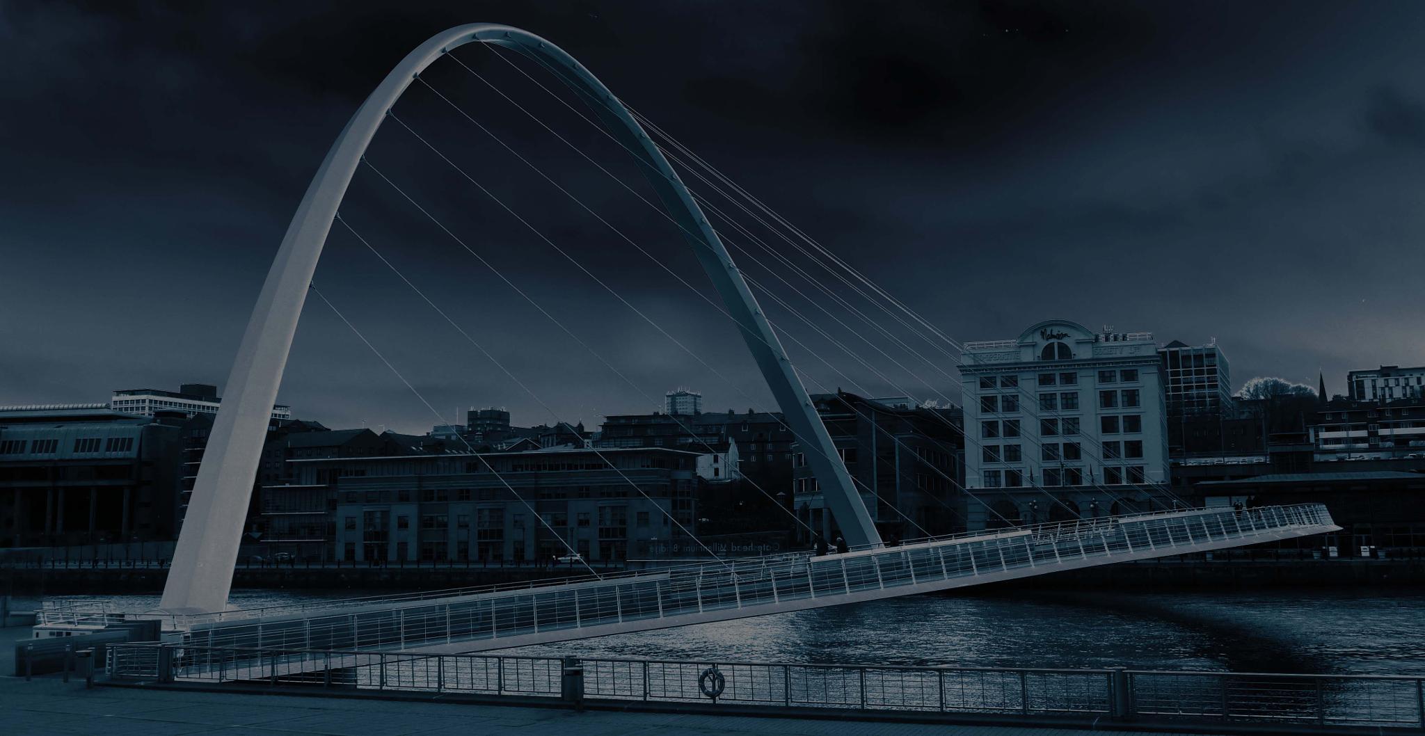 Gateshead Millennium Bridge in Blue................. by Darren Turner