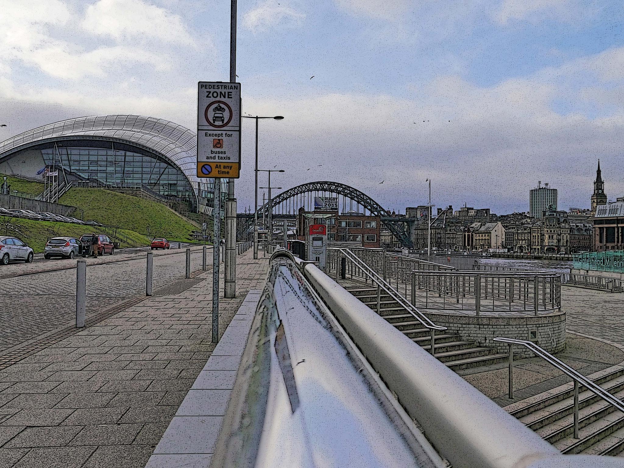 Gateshead Quayside today by Darren Turner