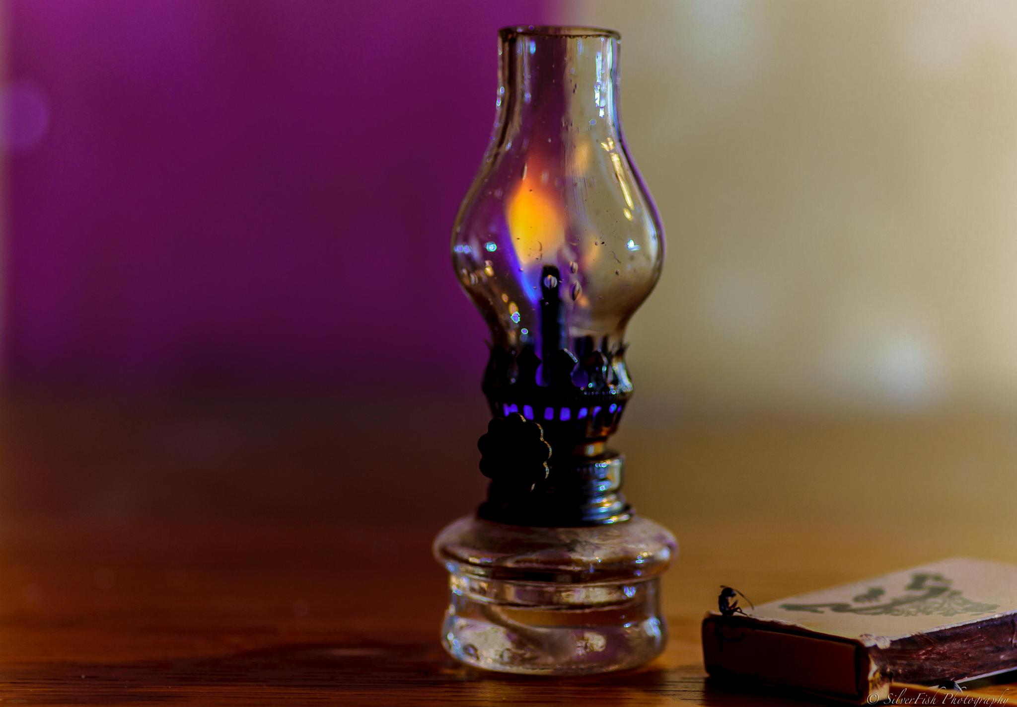 Hope is patience with the lamp lit. by Silverfish & Friends