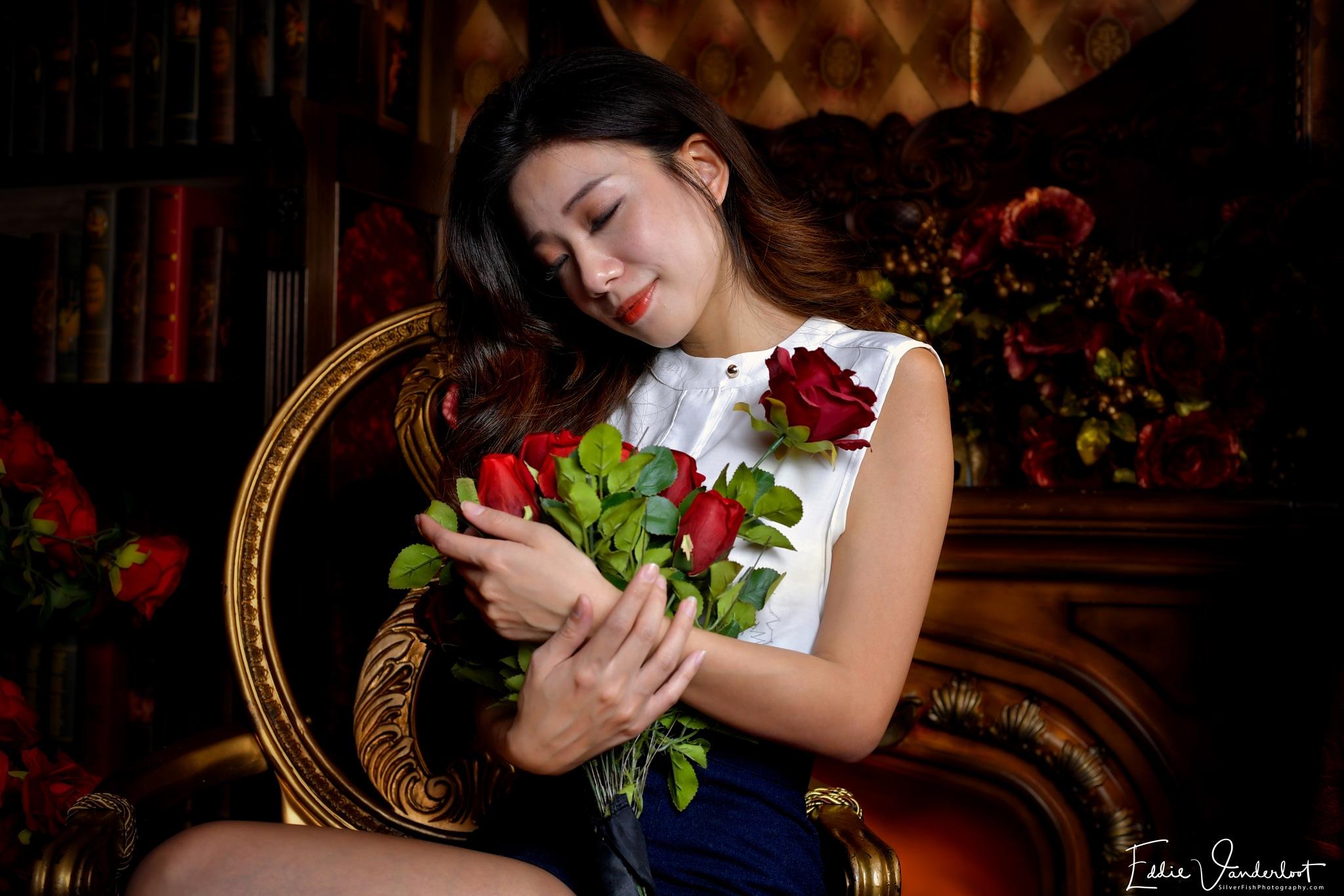 Photo in Portrait #bunny #ears #valentines #beauty #glamour #portrait #nikon #roses #miss #you #love #beautiful #girl #women #lady #sensual #profoto