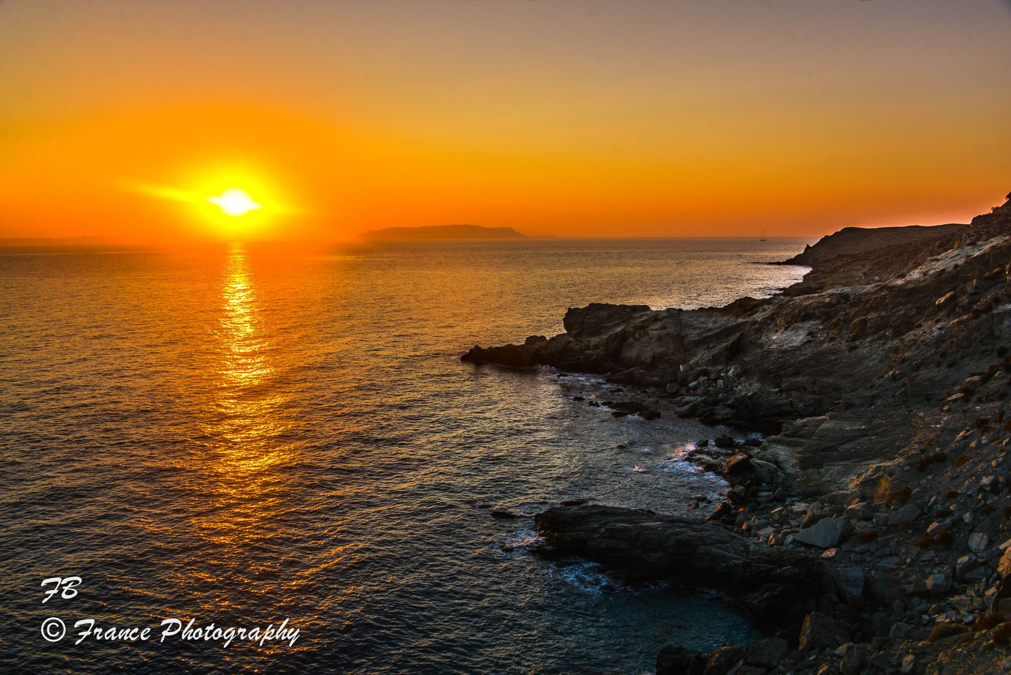 Sunset at Folegandros by France Photography